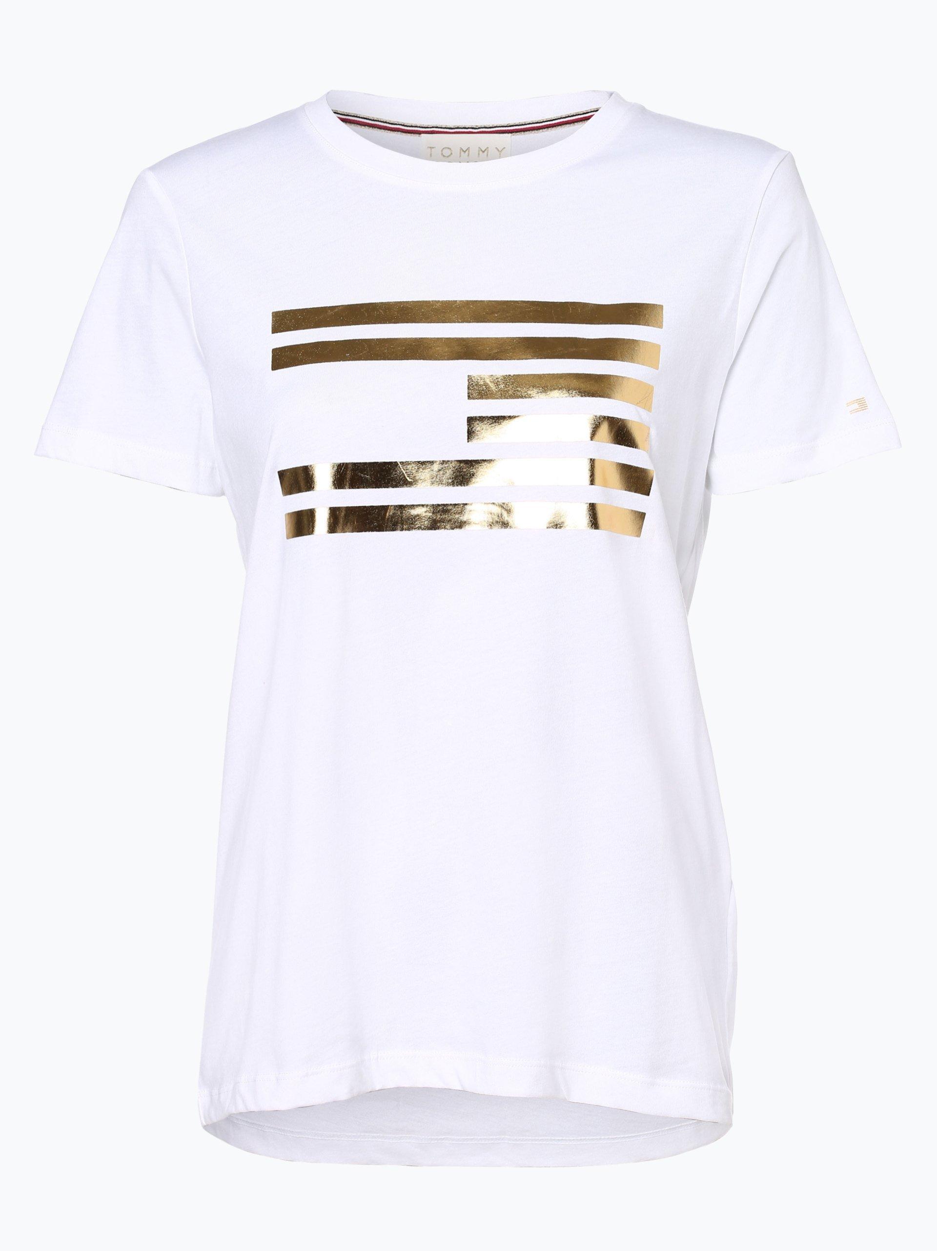 tommy hilfiger damen t shirt icon gold online kaufen. Black Bedroom Furniture Sets. Home Design Ideas