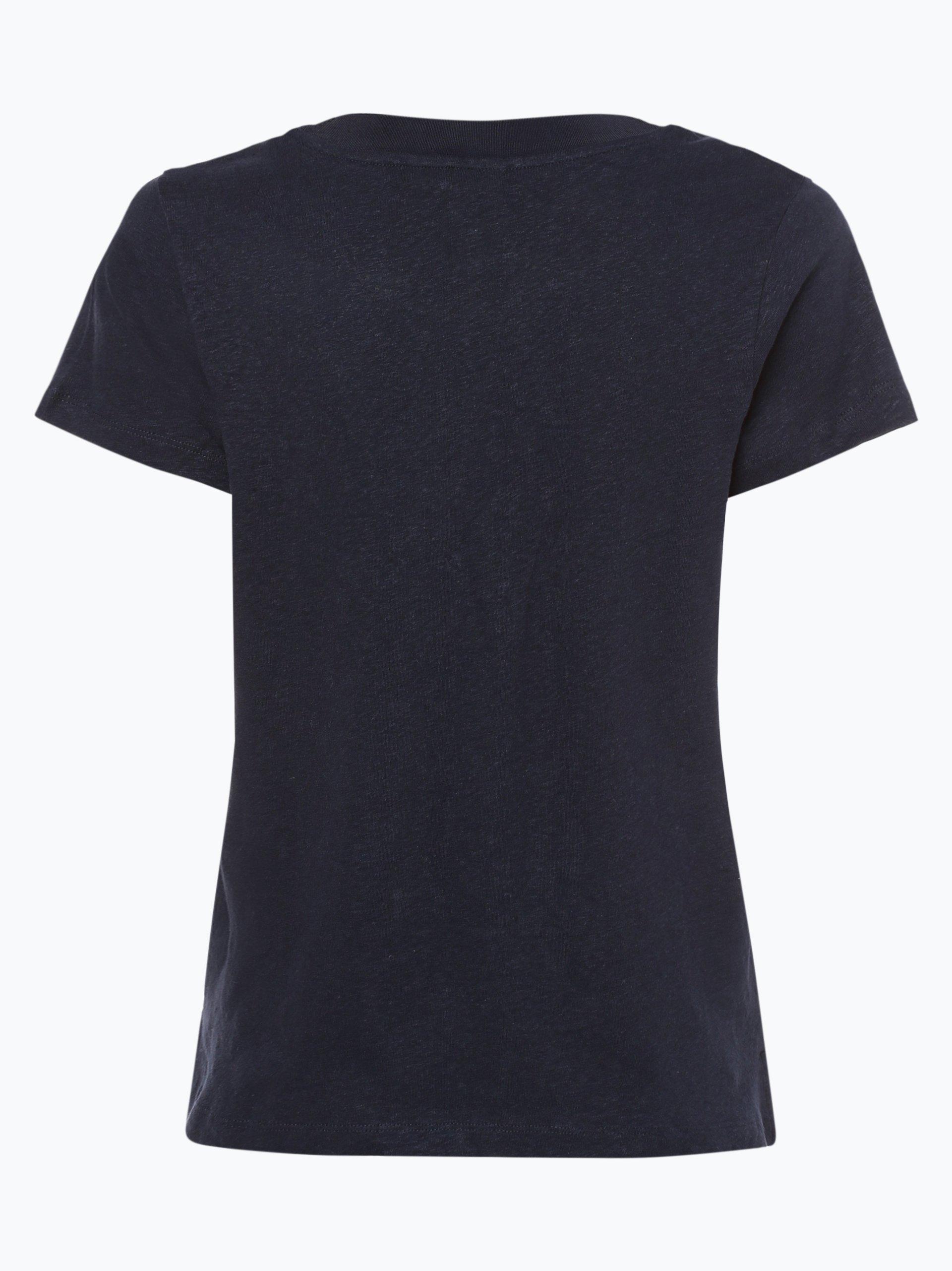 Tommy Hilfiger Damen T-Shirt mit Leinen-Anteil - Ellen