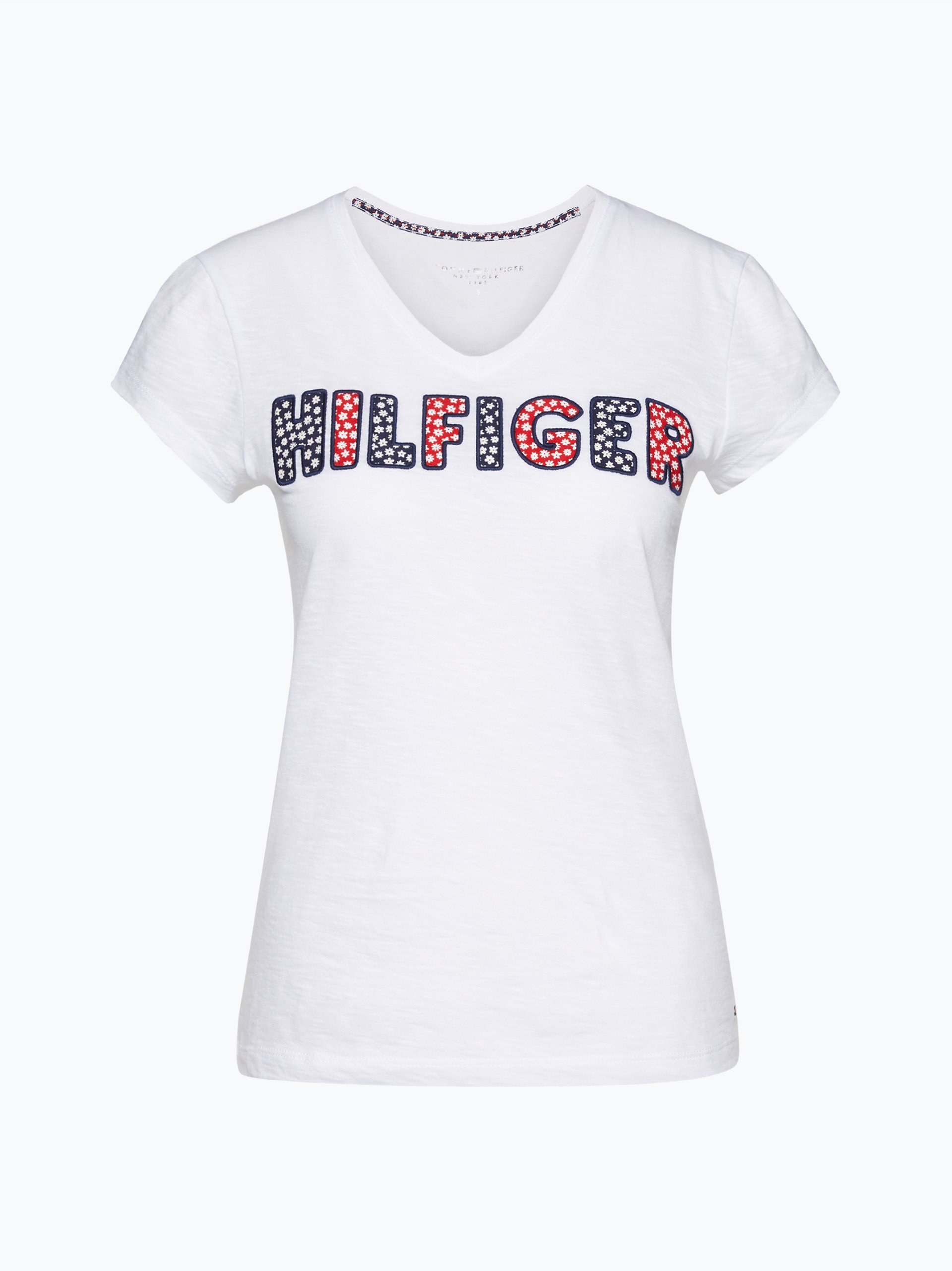 tommy hilfiger damen t shirt wei gemustert online kaufen. Black Bedroom Furniture Sets. Home Design Ideas