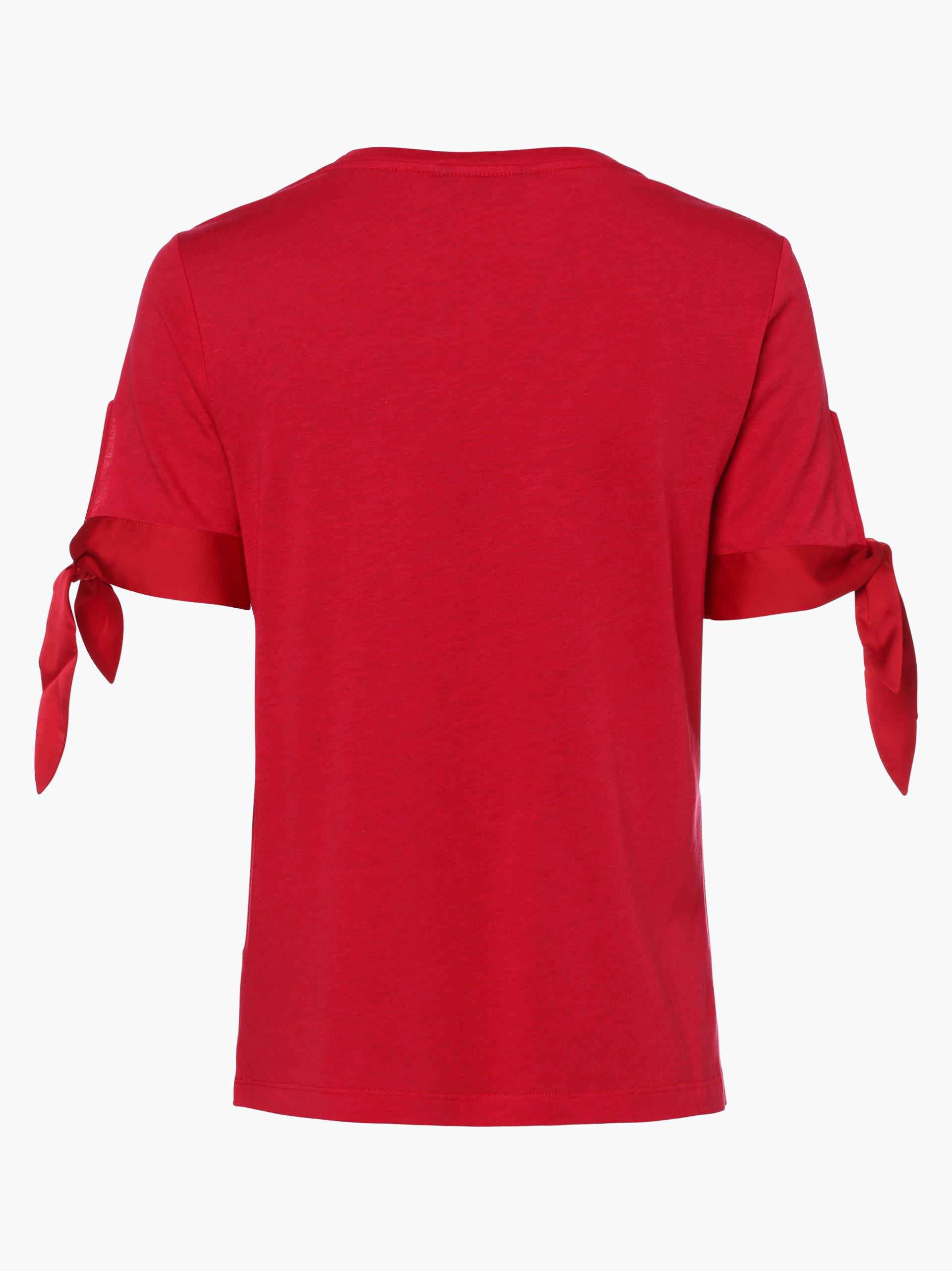 tommy hilfiger damen t shirt rot uni online kaufen peek. Black Bedroom Furniture Sets. Home Design Ideas