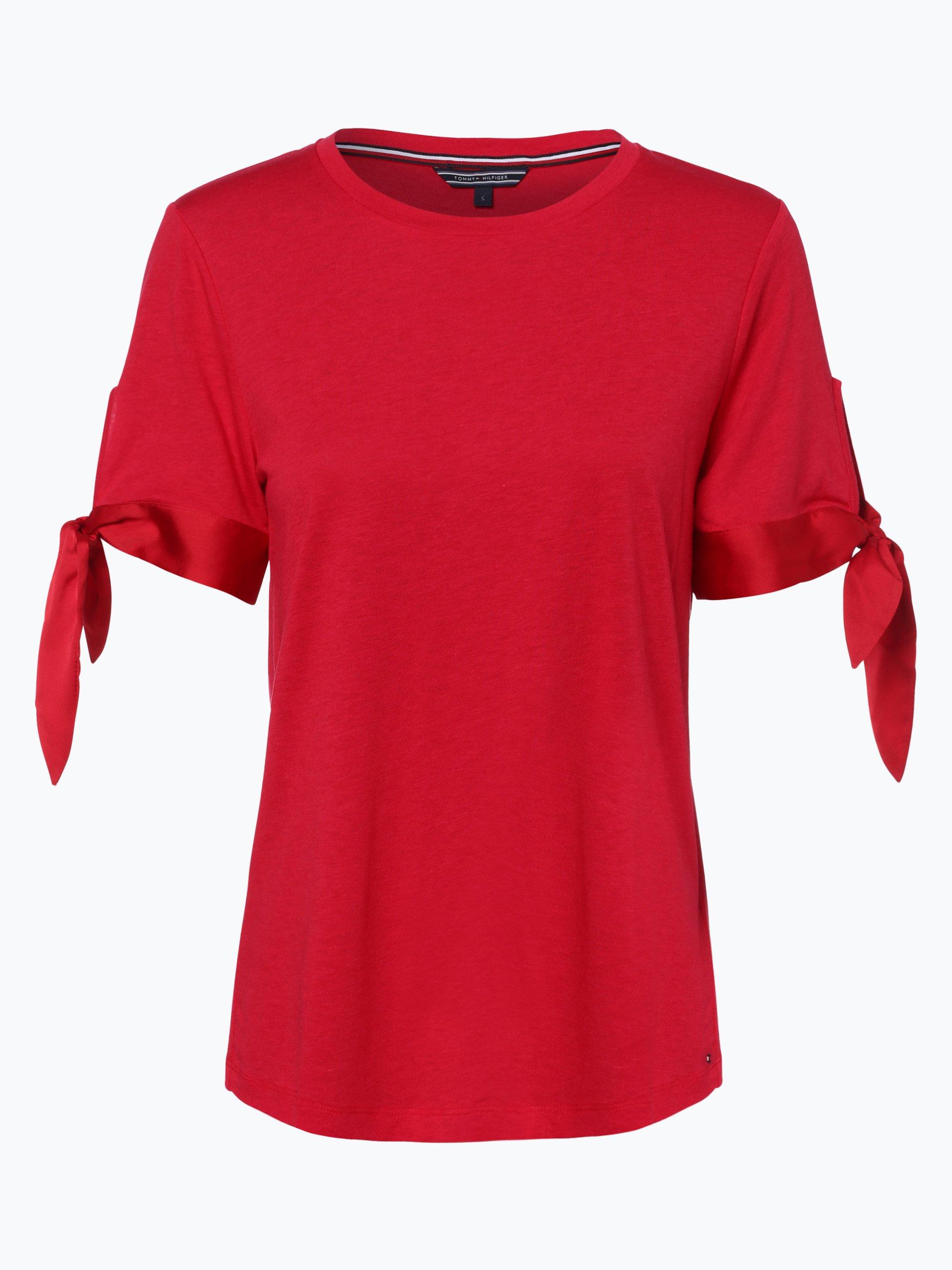 tommy hilfiger damen t shirt rot uni online kaufen. Black Bedroom Furniture Sets. Home Design Ideas