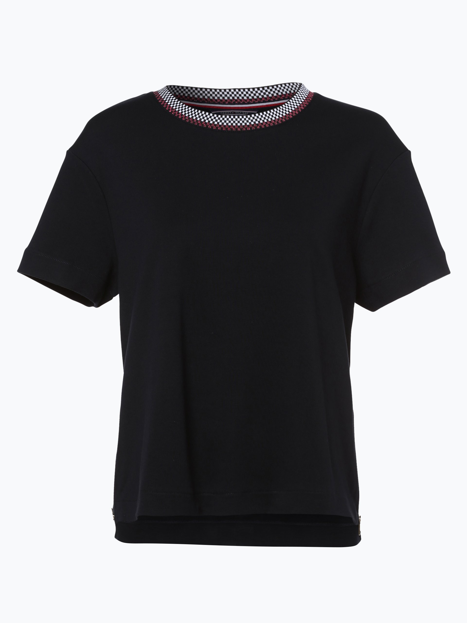 tommy hilfiger damen t shirt schwarz uni online kaufen peek und cloppenburg de. Black Bedroom Furniture Sets. Home Design Ideas