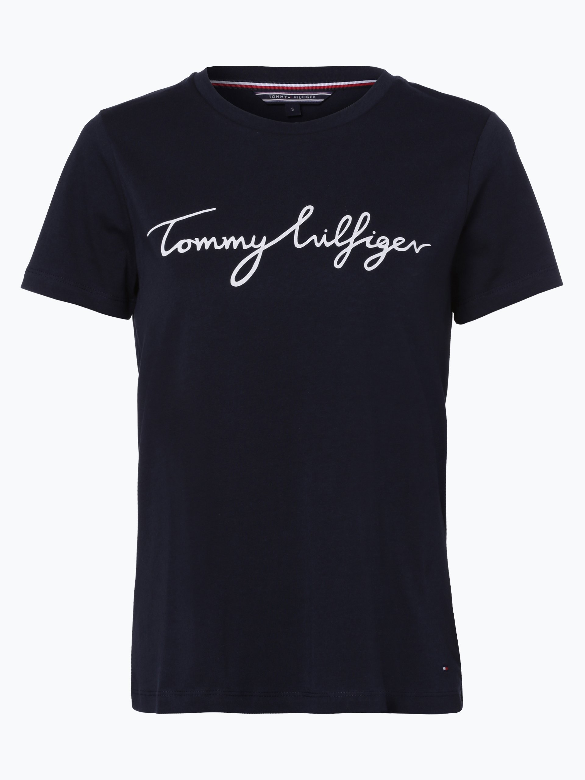 tommy hilfiger damen t shirt marine bedruckt online kaufen peek und cloppenburg de. Black Bedroom Furniture Sets. Home Design Ideas
