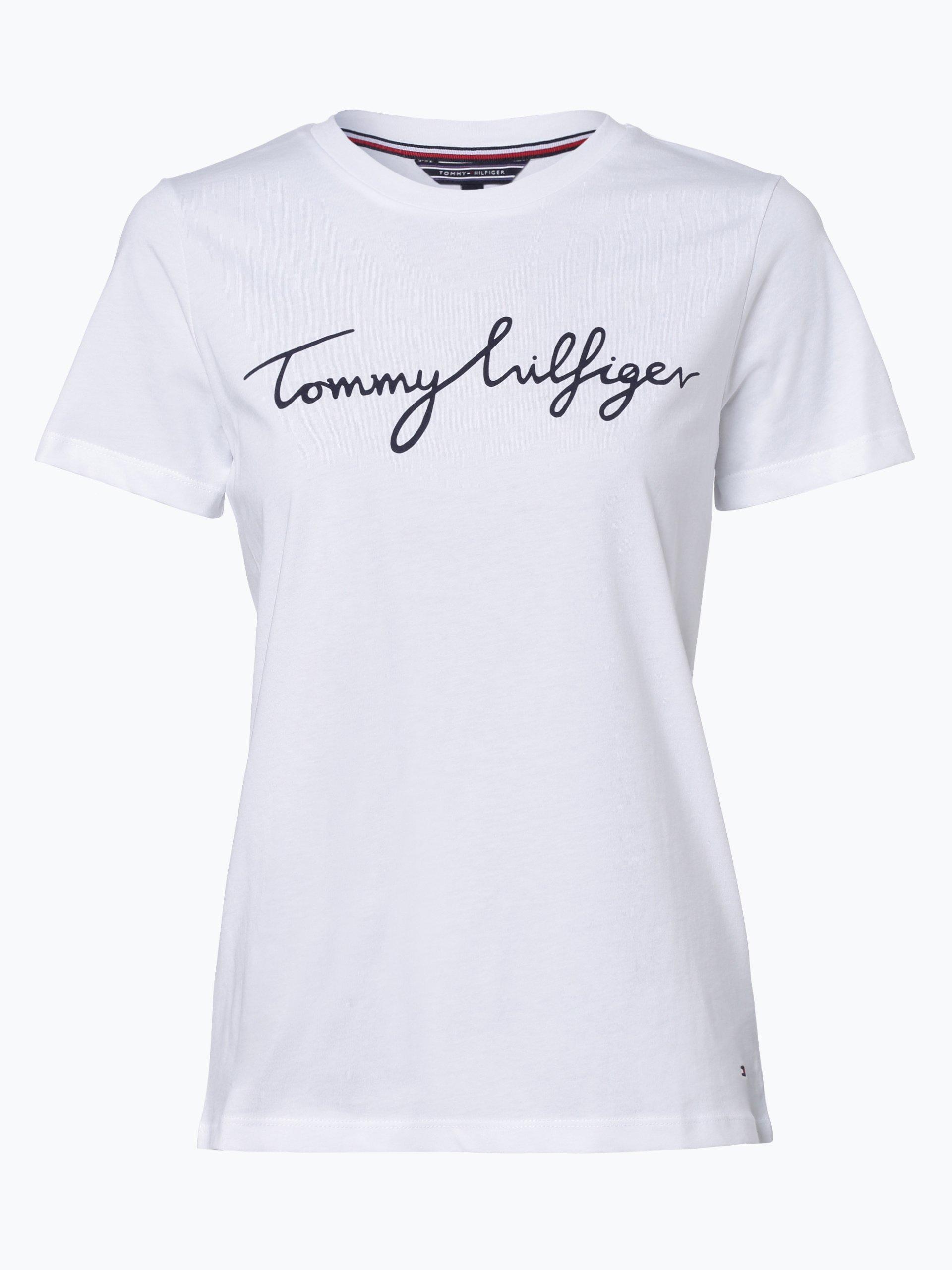 tommy hilfiger damen t shirt wei uni online kaufen vangraaf com. Black Bedroom Furniture Sets. Home Design Ideas