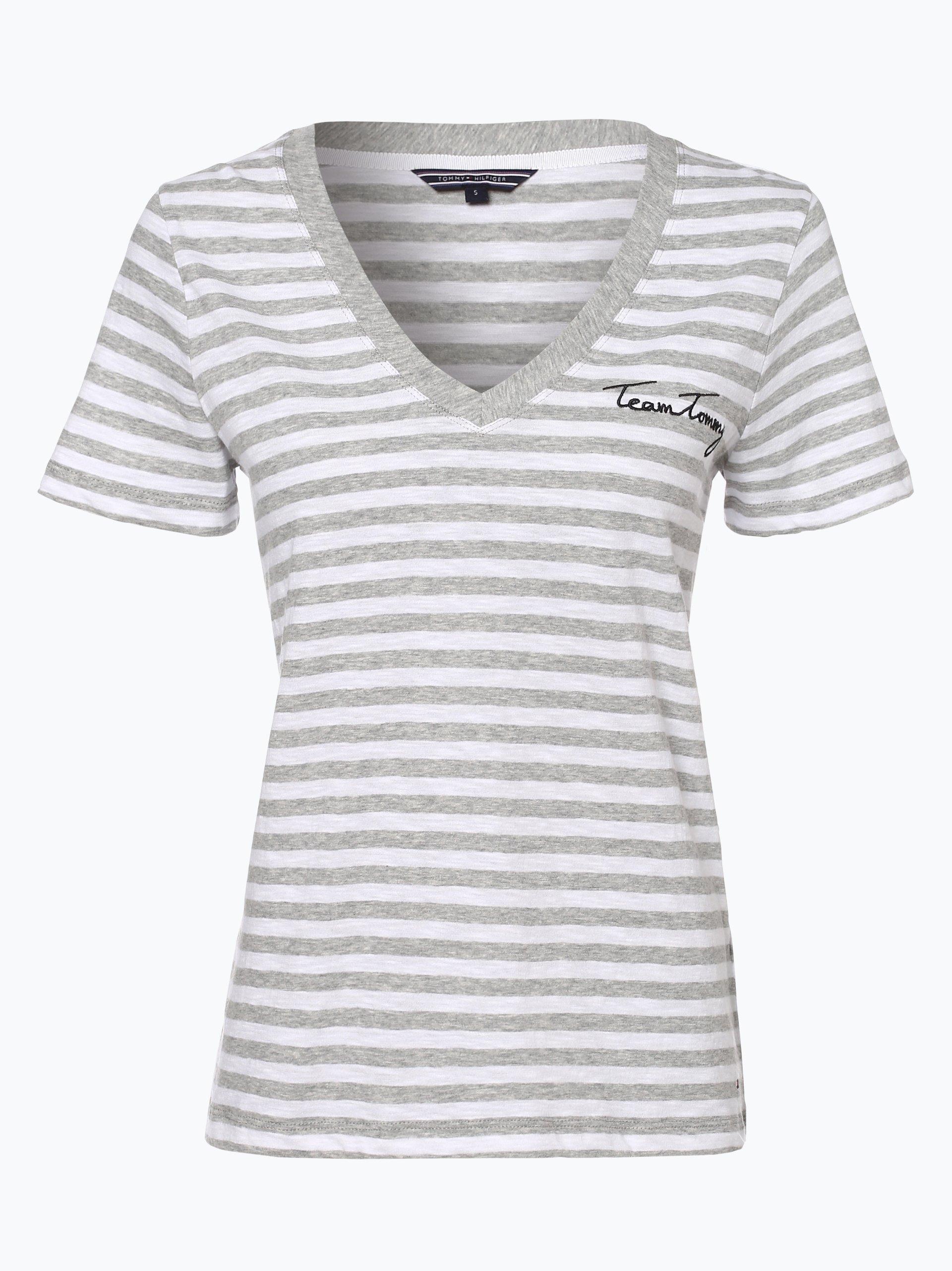tommy hilfiger damen t shirt grau gestreift online kaufen. Black Bedroom Furniture Sets. Home Design Ideas