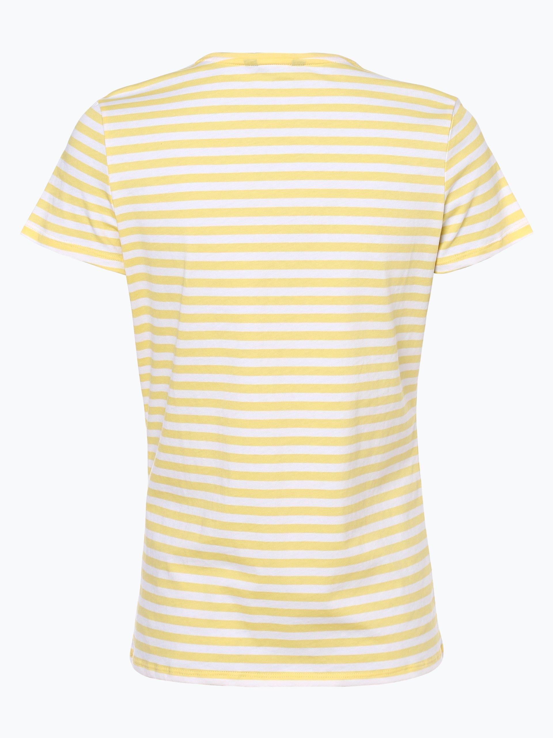 tommy hilfiger damen t shirt gelb gestreift online kaufen. Black Bedroom Furniture Sets. Home Design Ideas