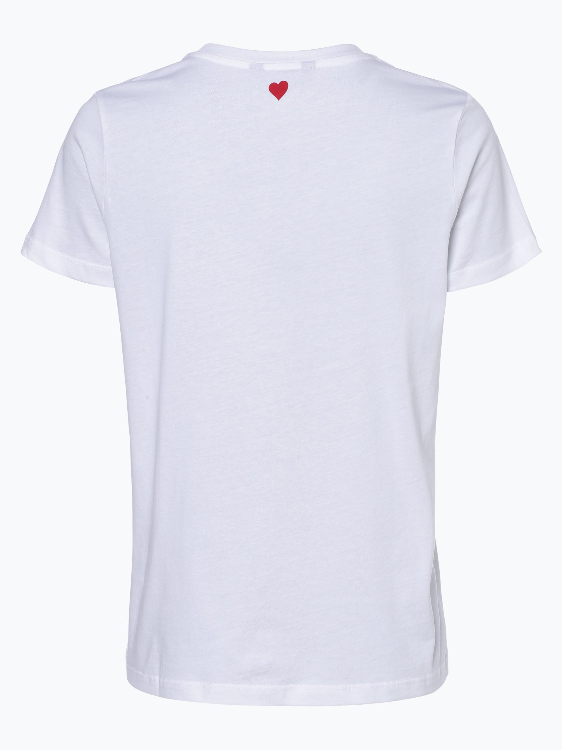 tommy hilfiger damen t shirt wei uni online kaufen peek und cloppenburg de. Black Bedroom Furniture Sets. Home Design Ideas