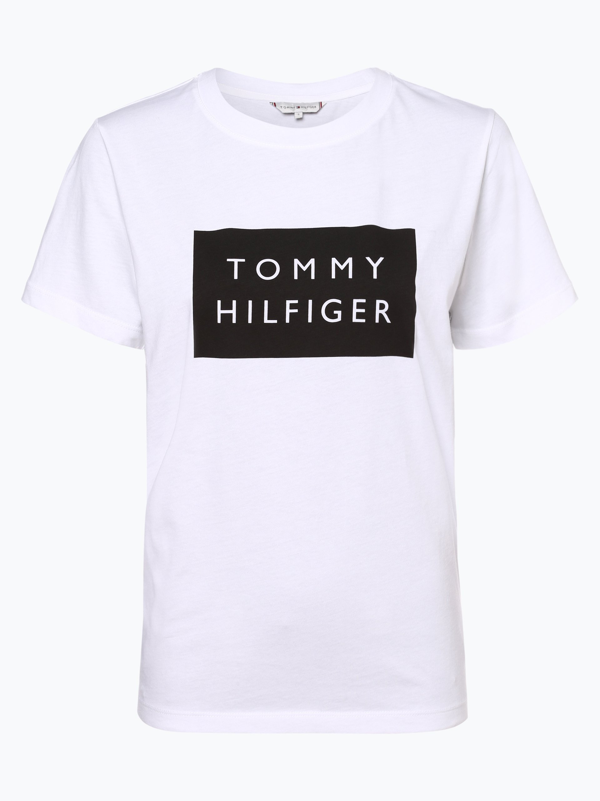 tommy hilfiger damen t shirt wei bedruckt online kaufen. Black Bedroom Furniture Sets. Home Design Ideas