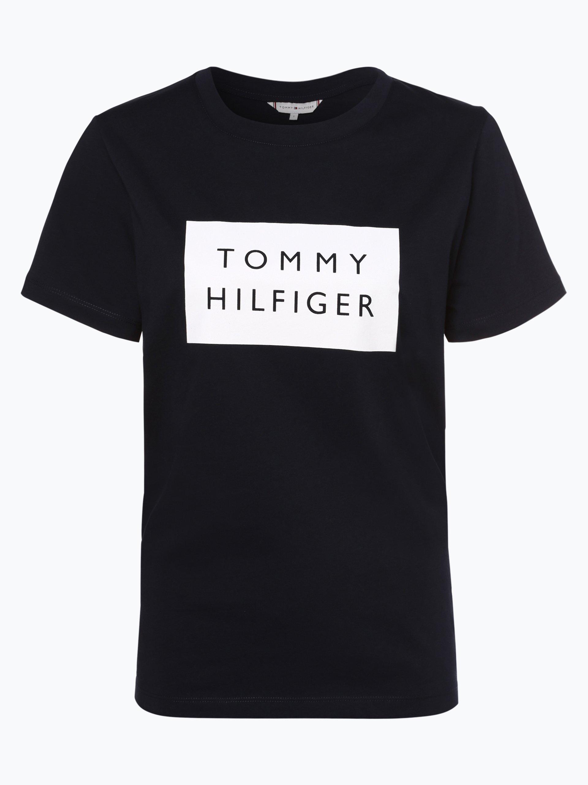 tommy hilfiger damen t shirt marine bedruckt online kaufen. Black Bedroom Furniture Sets. Home Design Ideas