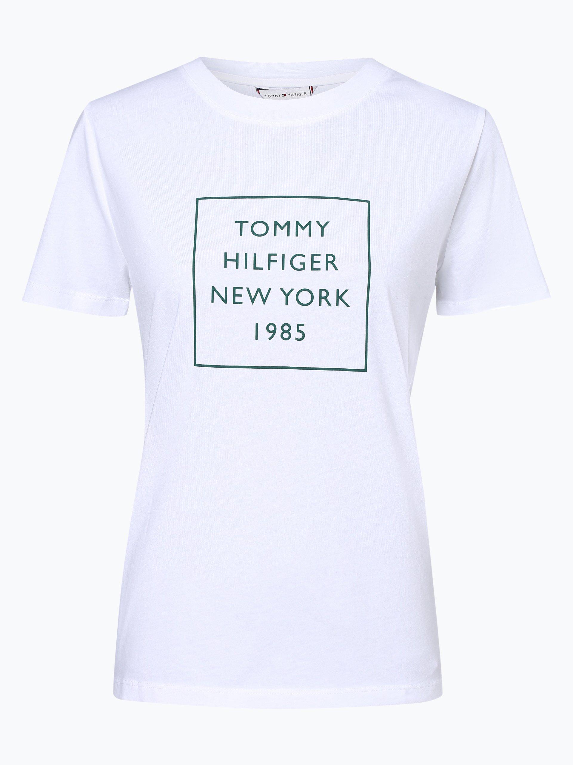 tommy hilfiger damen t shirt wei gr n bedruckt online. Black Bedroom Furniture Sets. Home Design Ideas