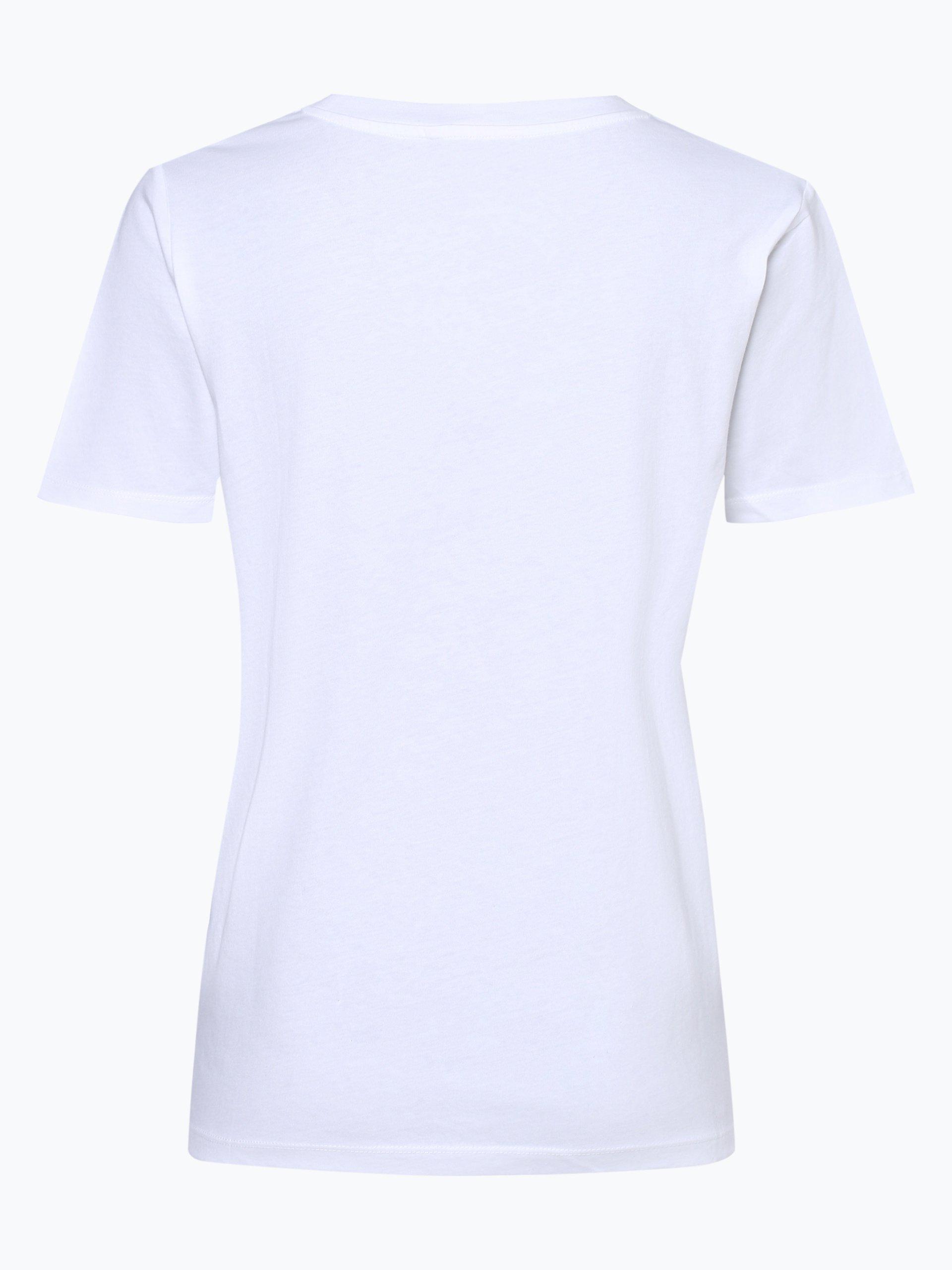 tommy hilfiger damen t shirt wei rot bedruckt online kaufen vangraaf com. Black Bedroom Furniture Sets. Home Design Ideas