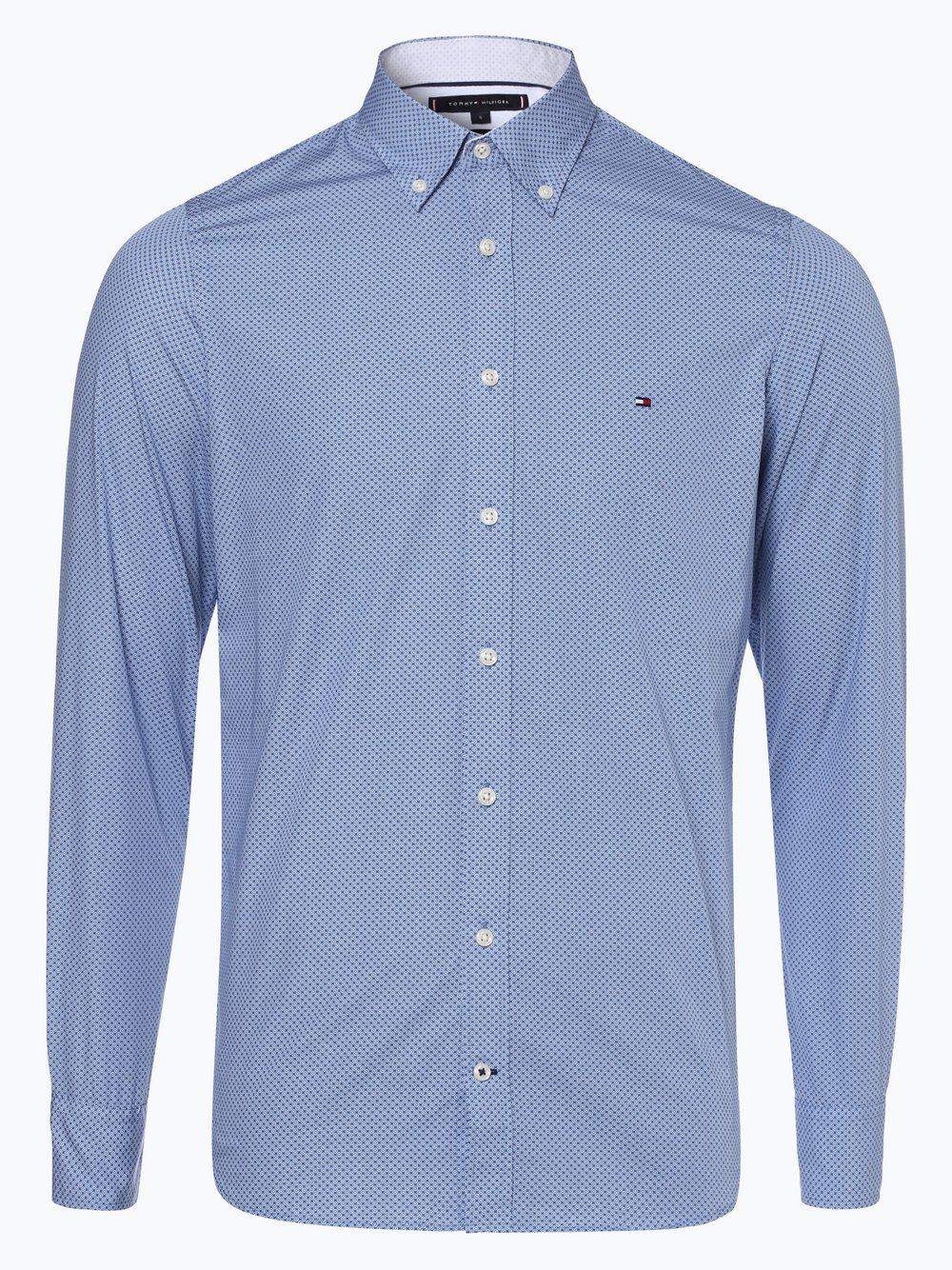 58b14f728da2 Tommy Hilfiger Herren Hemd blau gemustert online kaufen   PEEK-UND ...