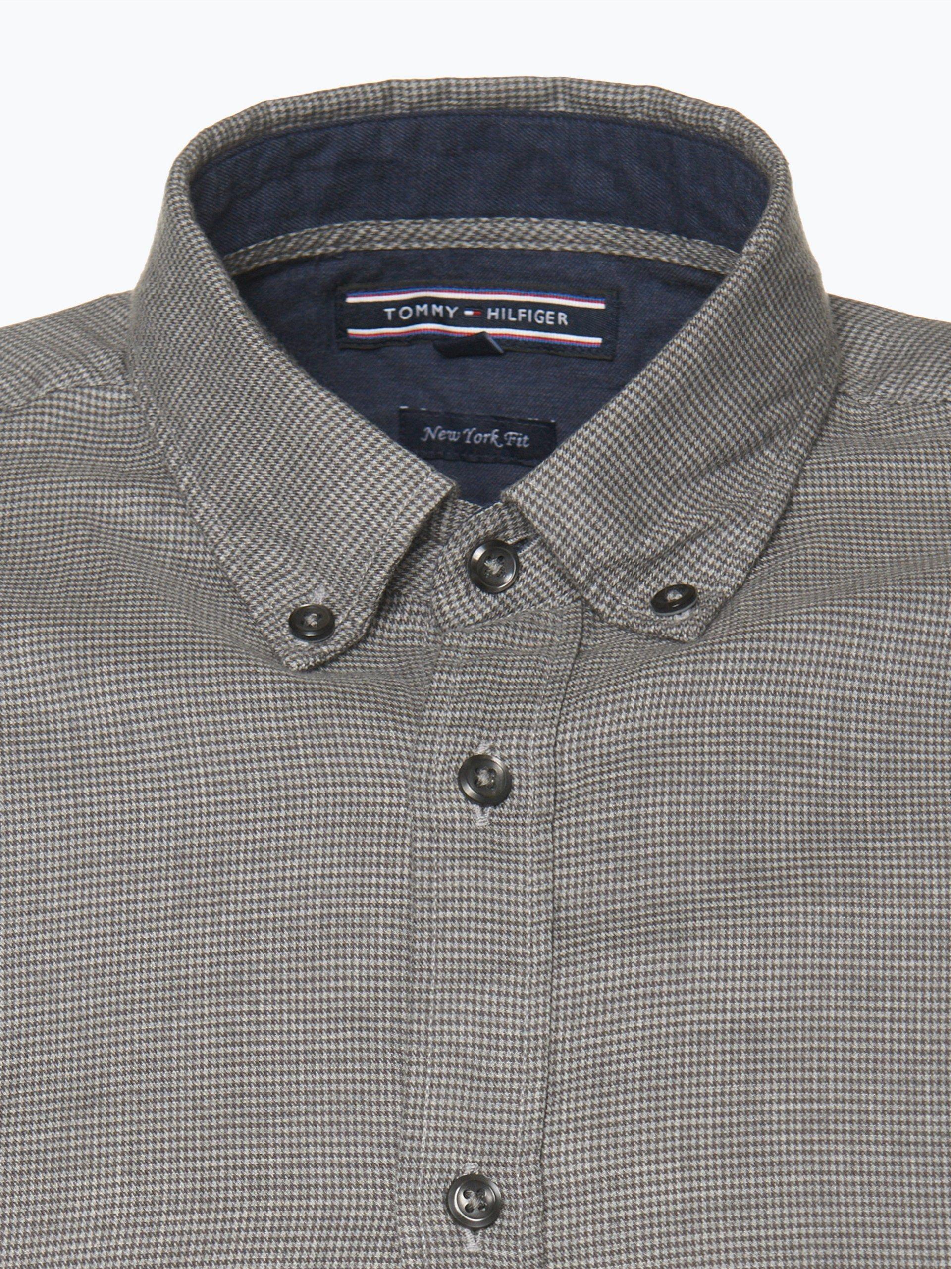 tommy hilfiger herren hemd ecru gemustert online kaufen. Black Bedroom Furniture Sets. Home Design Ideas