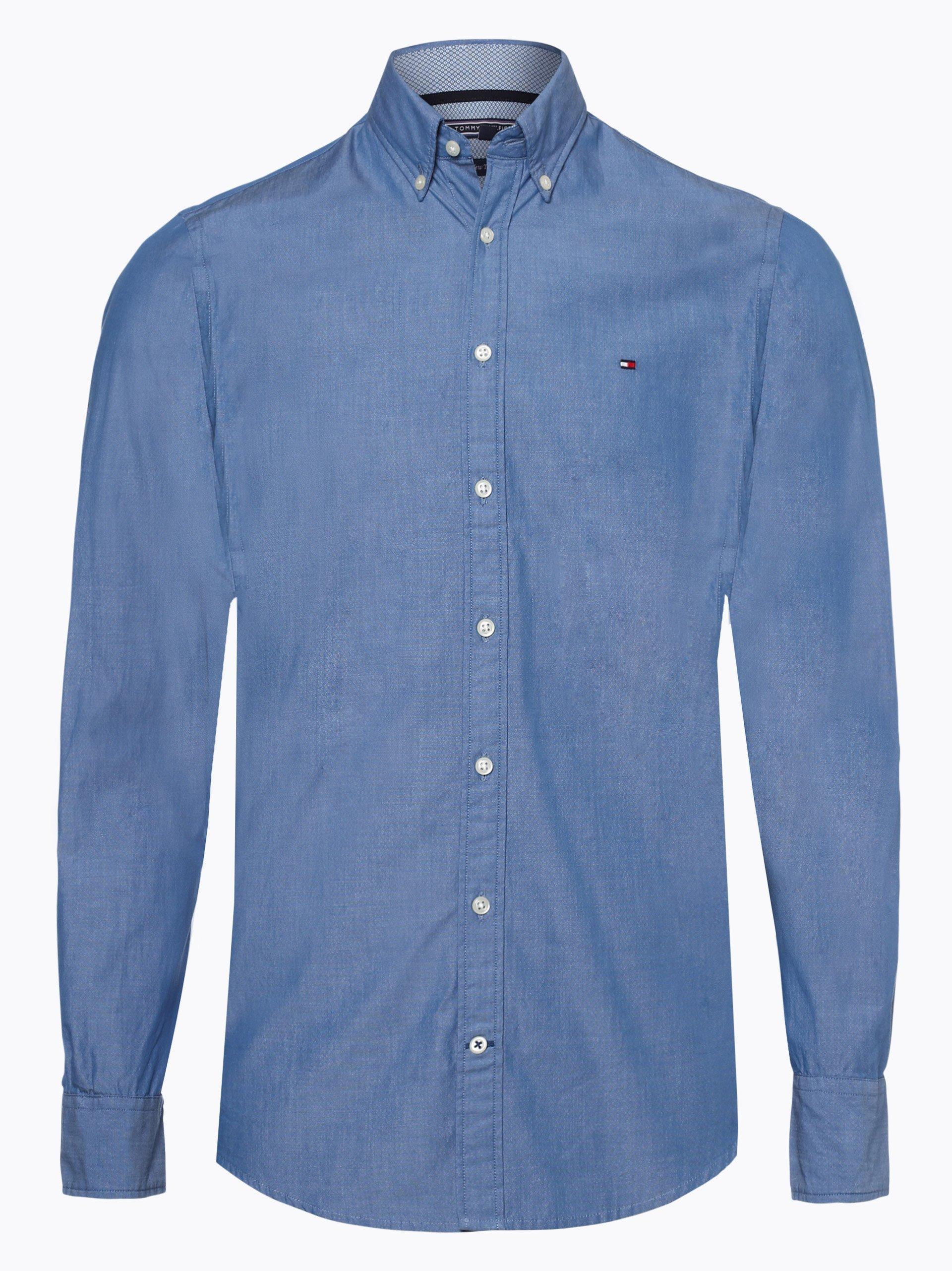 tommy hilfiger herren hemd marine blau uni online kaufen. Black Bedroom Furniture Sets. Home Design Ideas