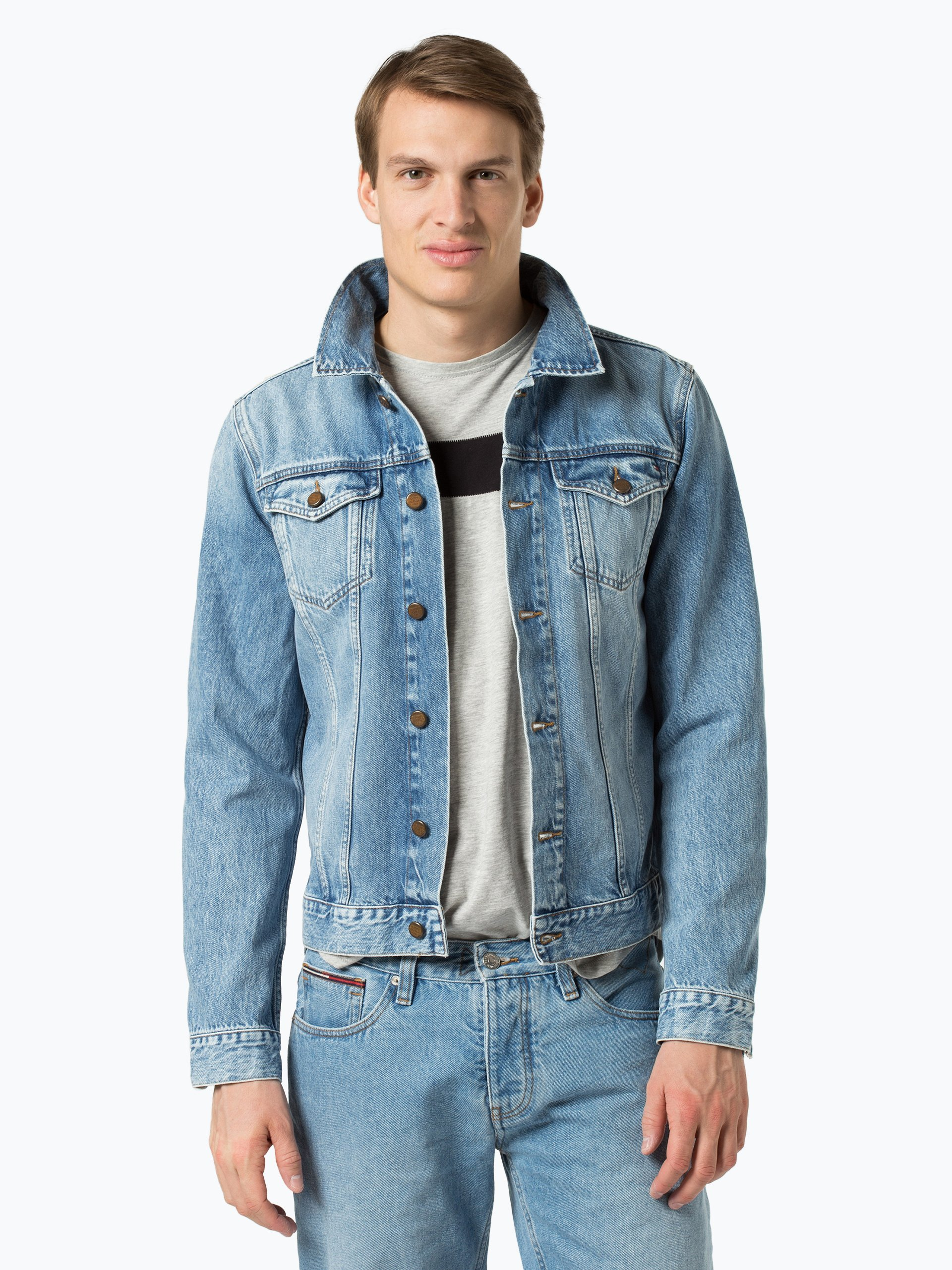 tommy hilfiger herren jeansjacke denim uni online kaufen vangraaf com. Black Bedroom Furniture Sets. Home Design Ideas