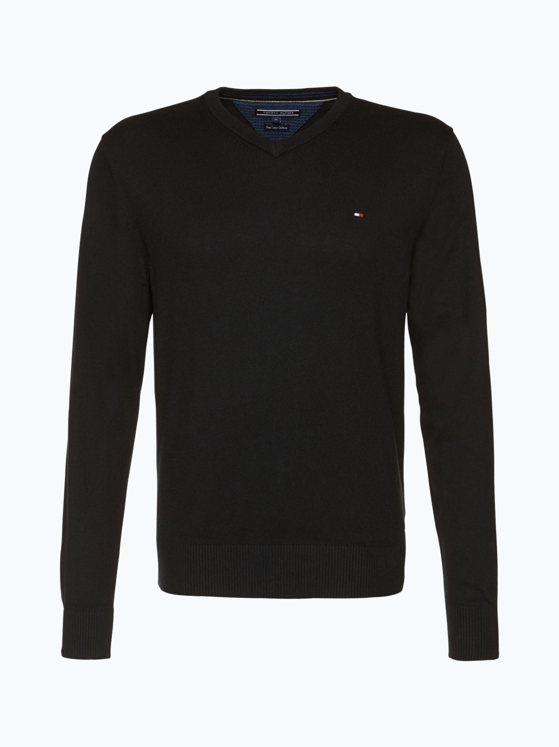 tommy hilfiger herren pullover mit cashmere anteil schwarz. Black Bedroom Furniture Sets. Home Design Ideas