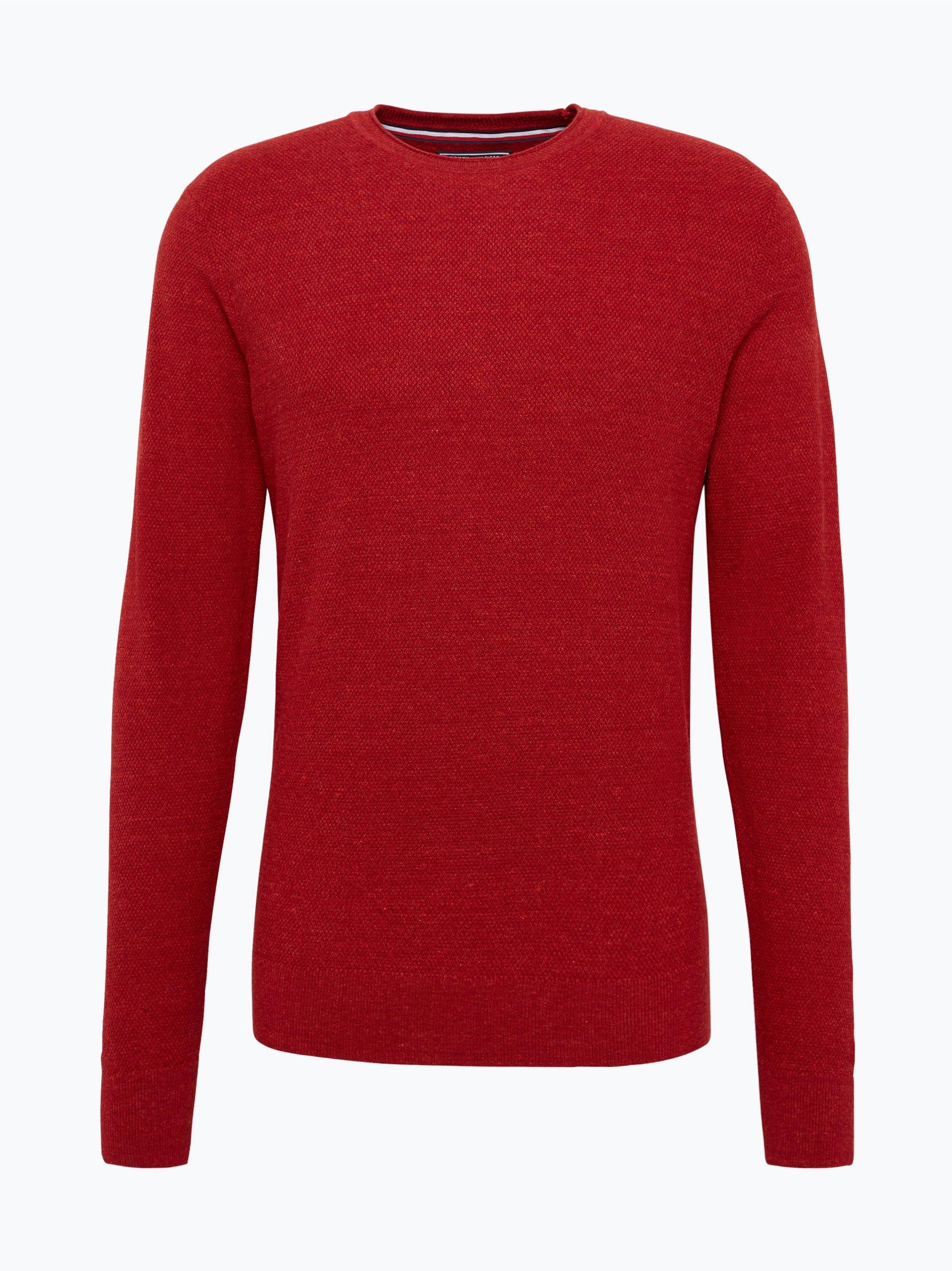 tommy hilfiger herren pullover rot uni online kaufen. Black Bedroom Furniture Sets. Home Design Ideas