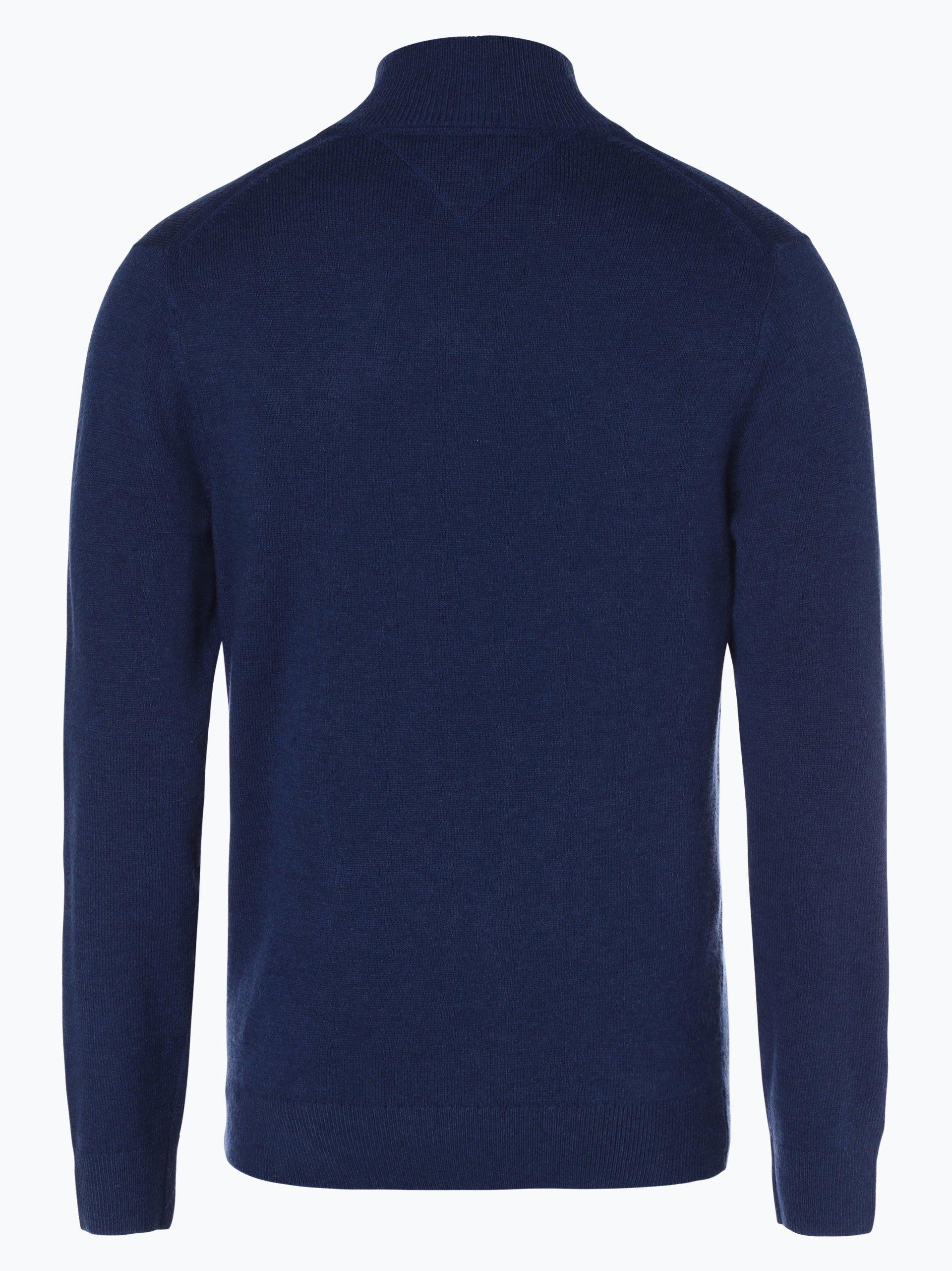 tommy hilfiger herren pullover blau uni online kaufen. Black Bedroom Furniture Sets. Home Design Ideas