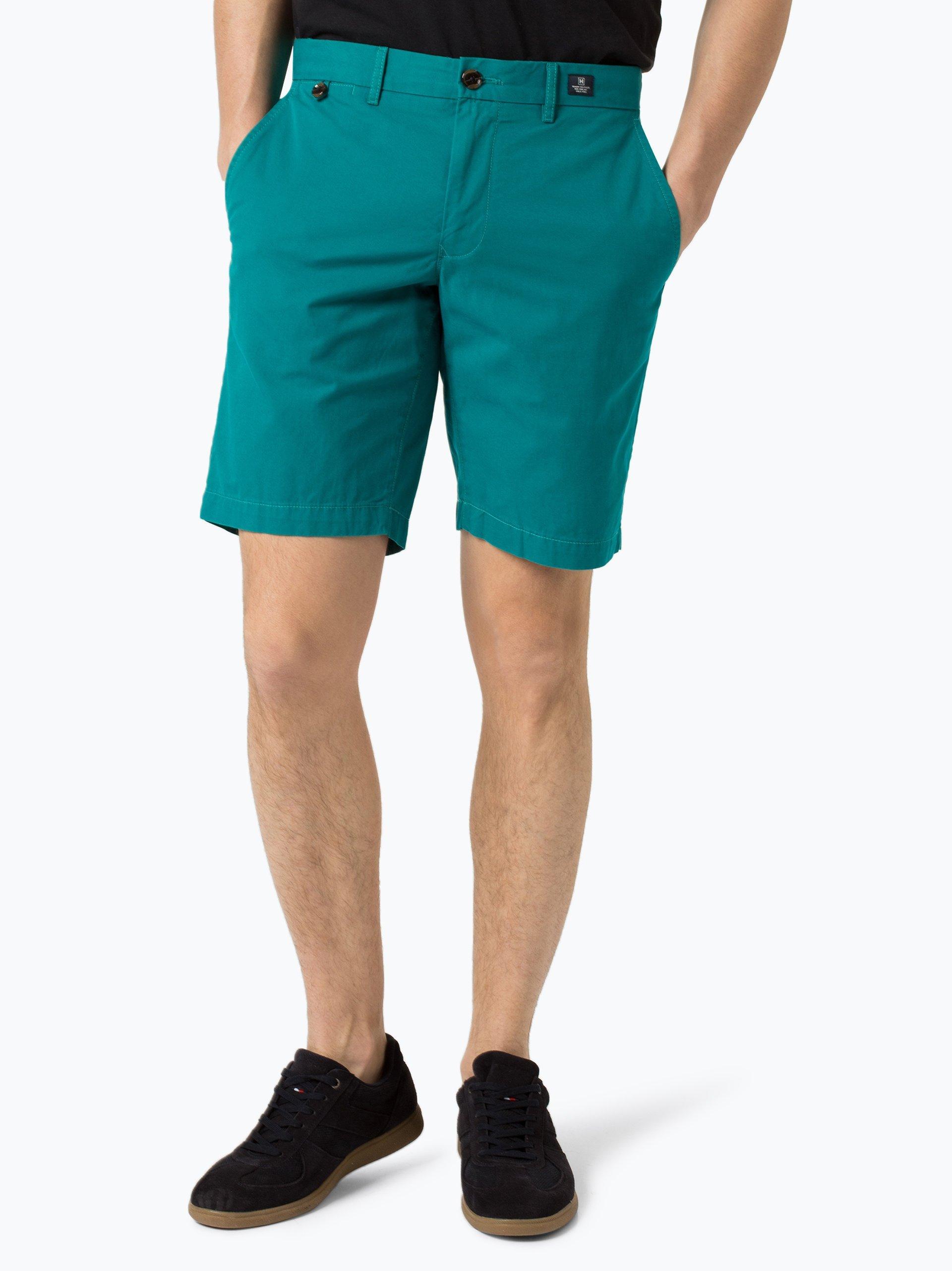 tommy hilfiger herren shorts blau smaragd uni online. Black Bedroom Furniture Sets. Home Design Ideas