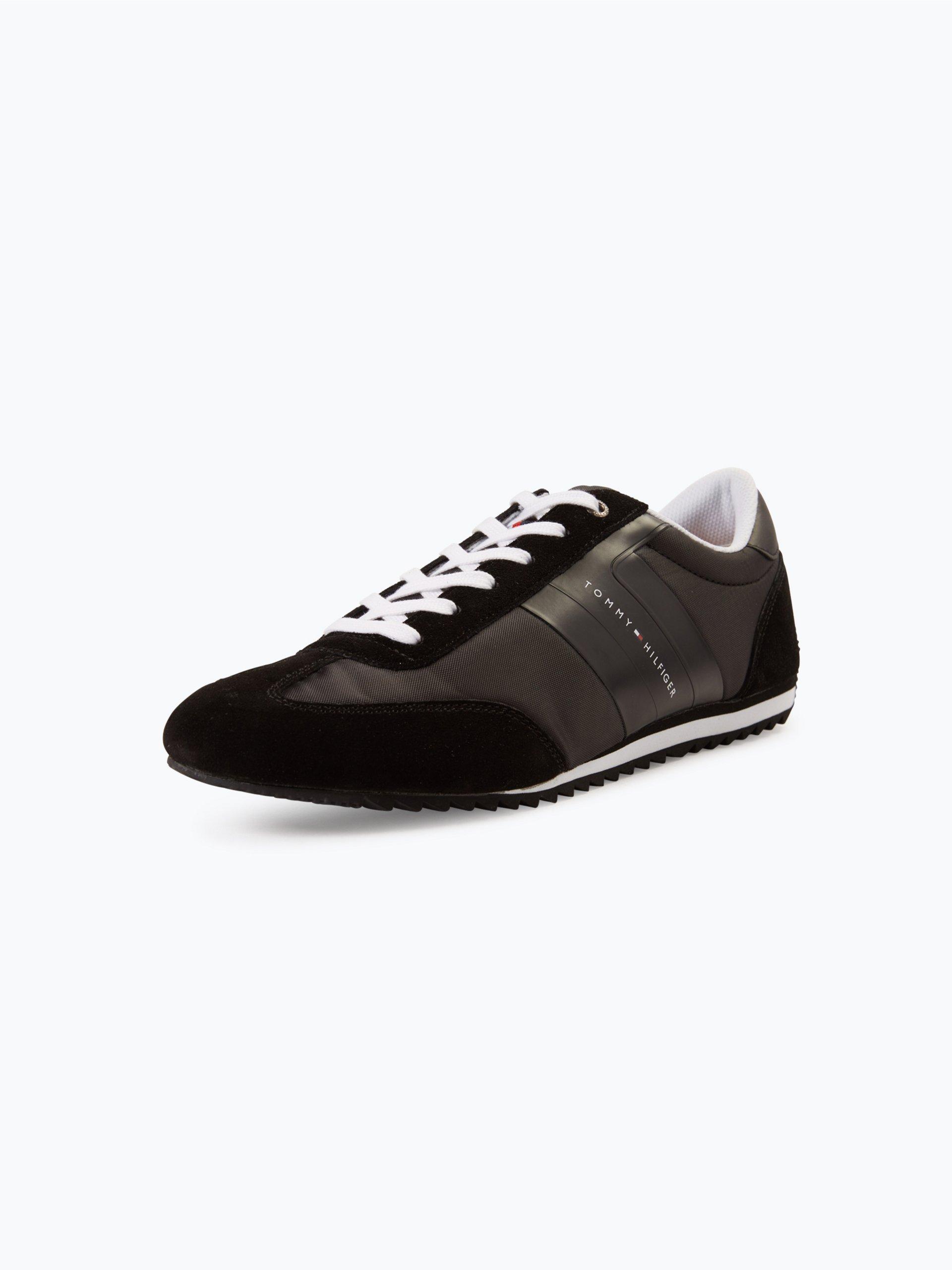 tommy hilfiger herren sneaker mit leder anteil branson 8c1 schwarz uni online kaufen peek. Black Bedroom Furniture Sets. Home Design Ideas
