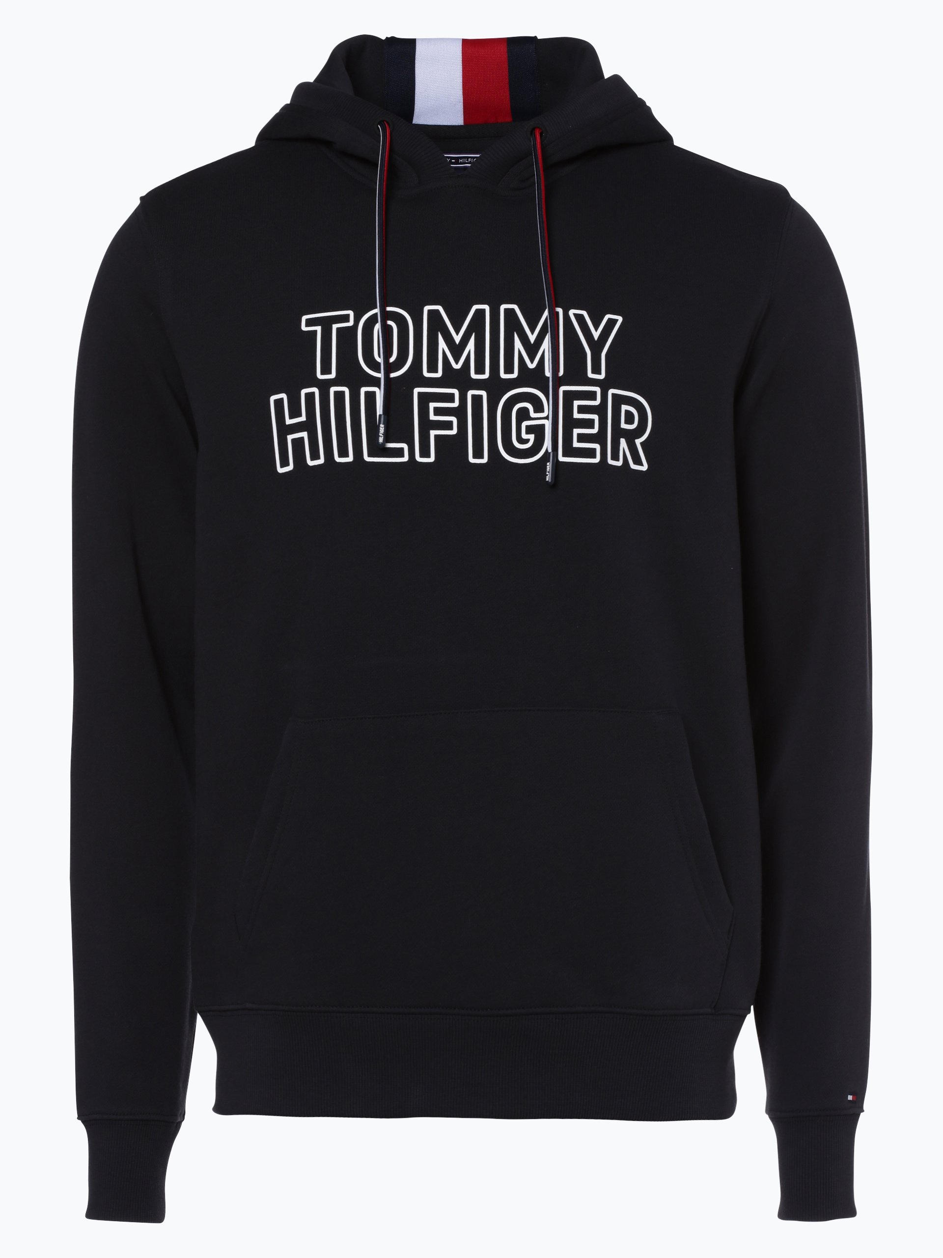 tommy hilfiger herren sweatshirt schwarz bedruckt online. Black Bedroom Furniture Sets. Home Design Ideas