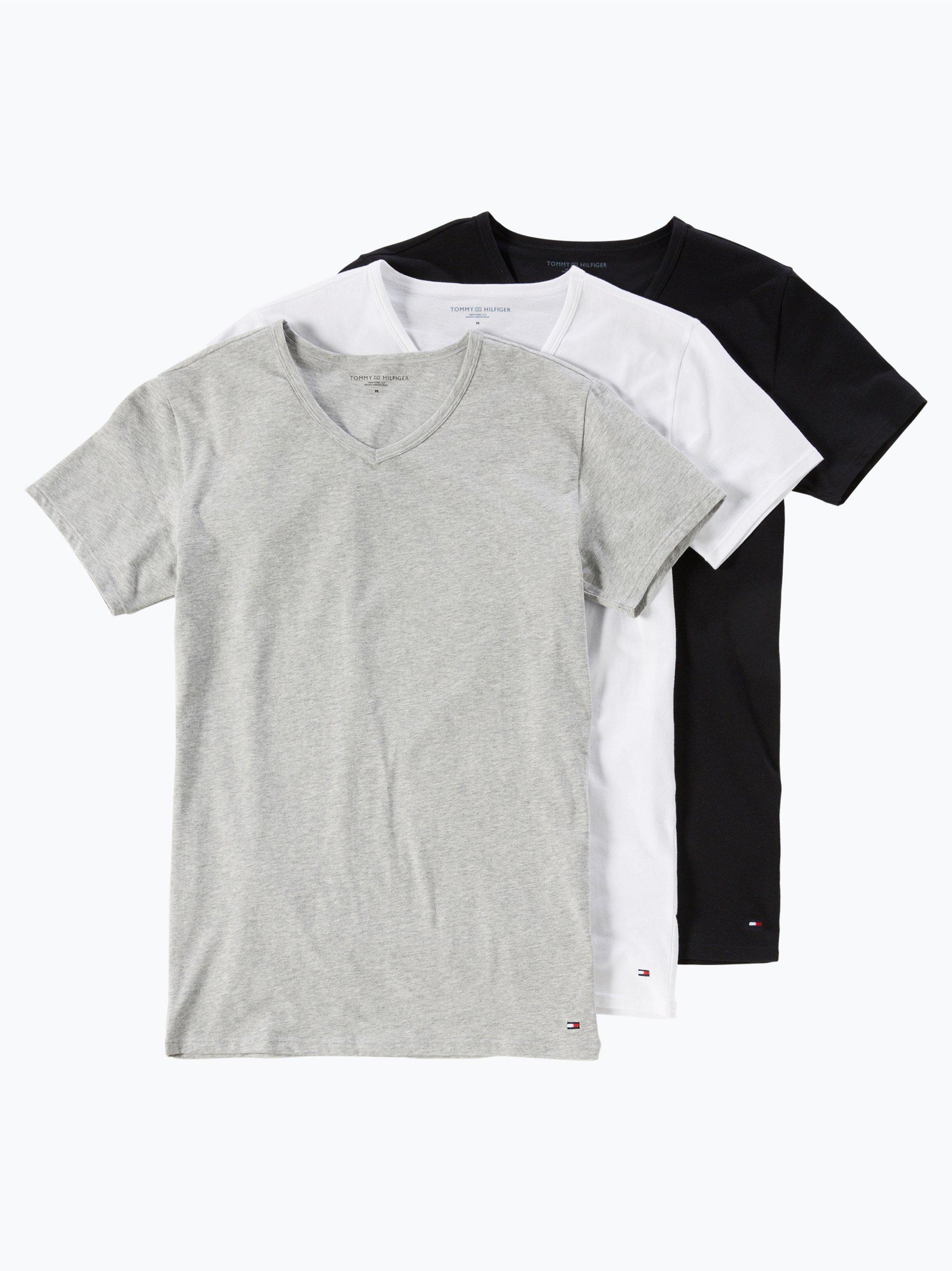 tommy hilfiger herren t shirt im 3er pack mehrfarbig uni online kaufen vangraaf com. Black Bedroom Furniture Sets. Home Design Ideas