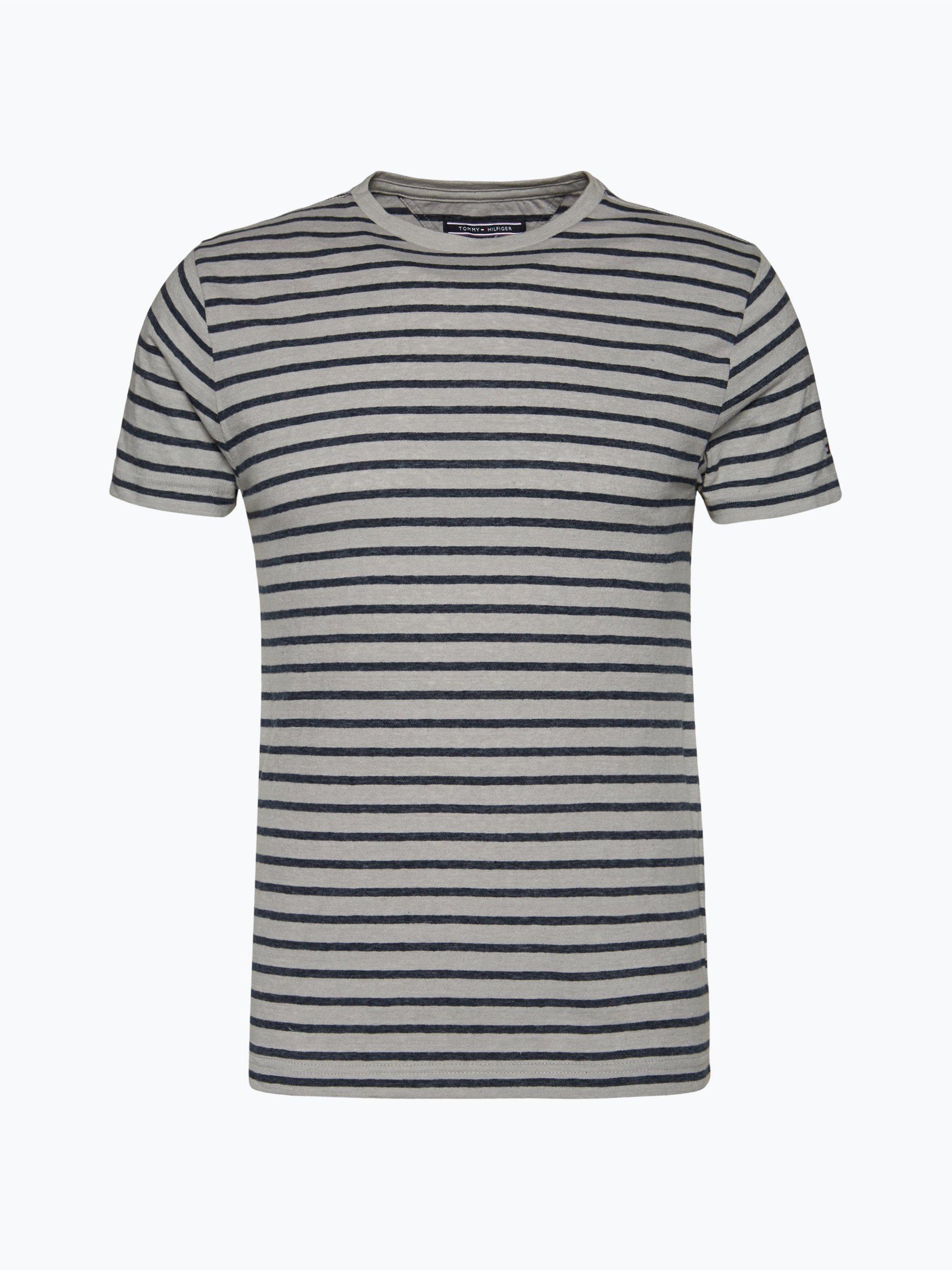 tommy hilfiger herren t shirt grau gestreift online kaufen. Black Bedroom Furniture Sets. Home Design Ideas