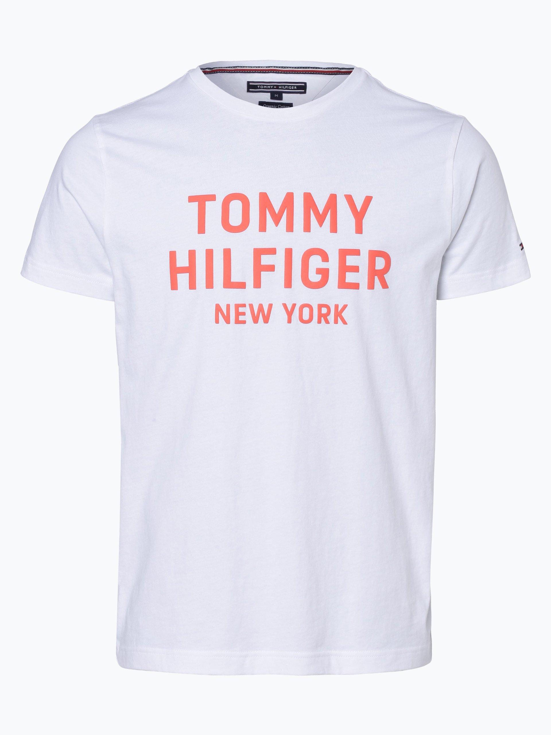 tommy hilfiger herren t shirt wei gemustert online kaufen. Black Bedroom Furniture Sets. Home Design Ideas