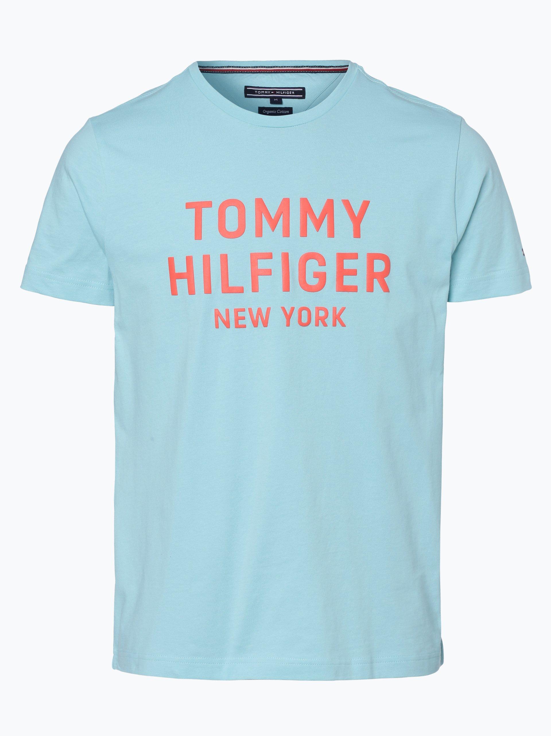 tommy hilfiger herren t shirt t rkis bedruckt online kaufen vangraaf com. Black Bedroom Furniture Sets. Home Design Ideas