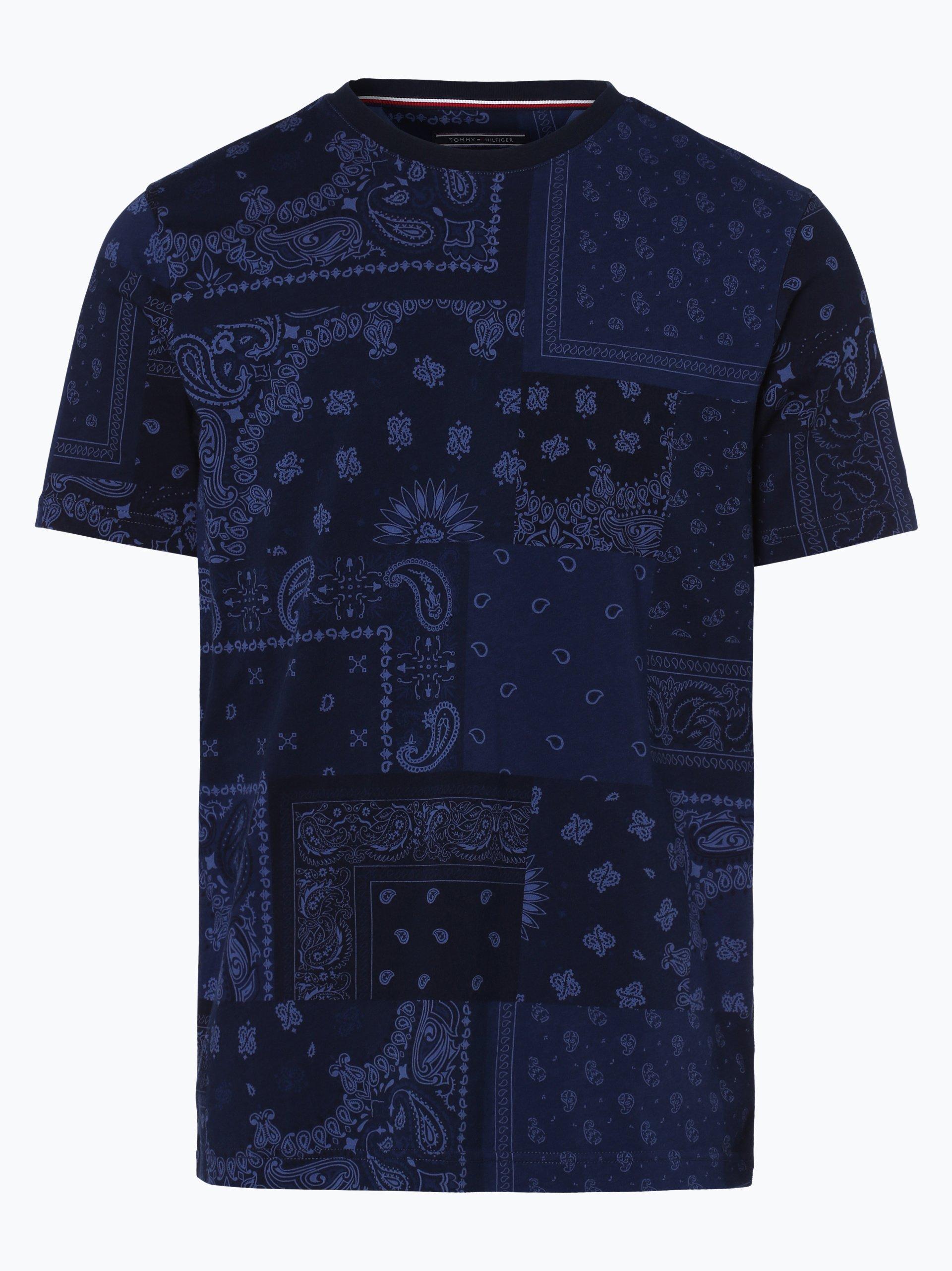 tommy hilfiger herren t shirt marine gemustert online kaufen peek und cloppenburg de. Black Bedroom Furniture Sets. Home Design Ideas