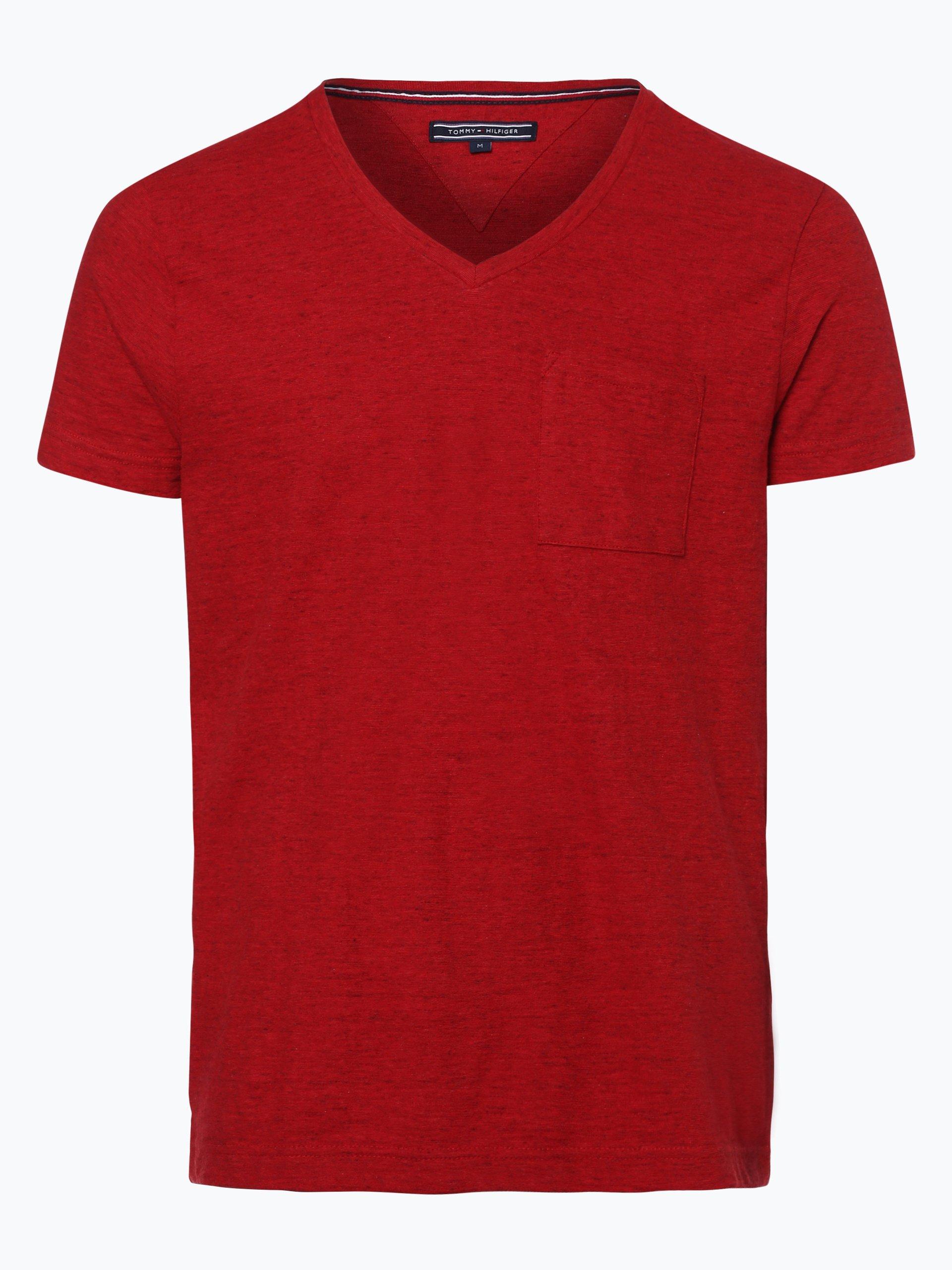 tommy hilfiger herren t shirt rot uni online kaufen peek. Black Bedroom Furniture Sets. Home Design Ideas