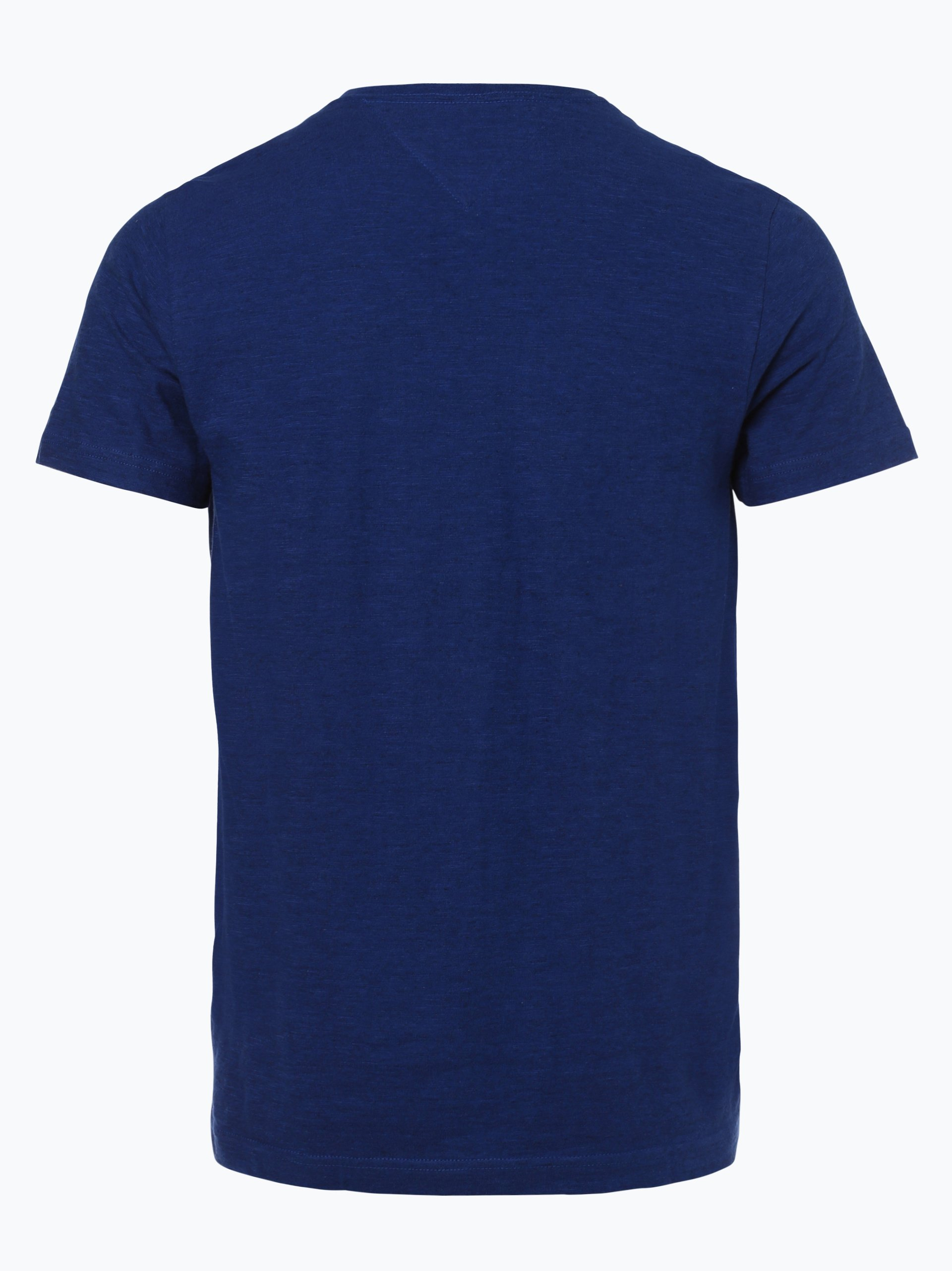 tommy hilfiger herren t shirt blau uni online kaufen vangraaf com. Black Bedroom Furniture Sets. Home Design Ideas