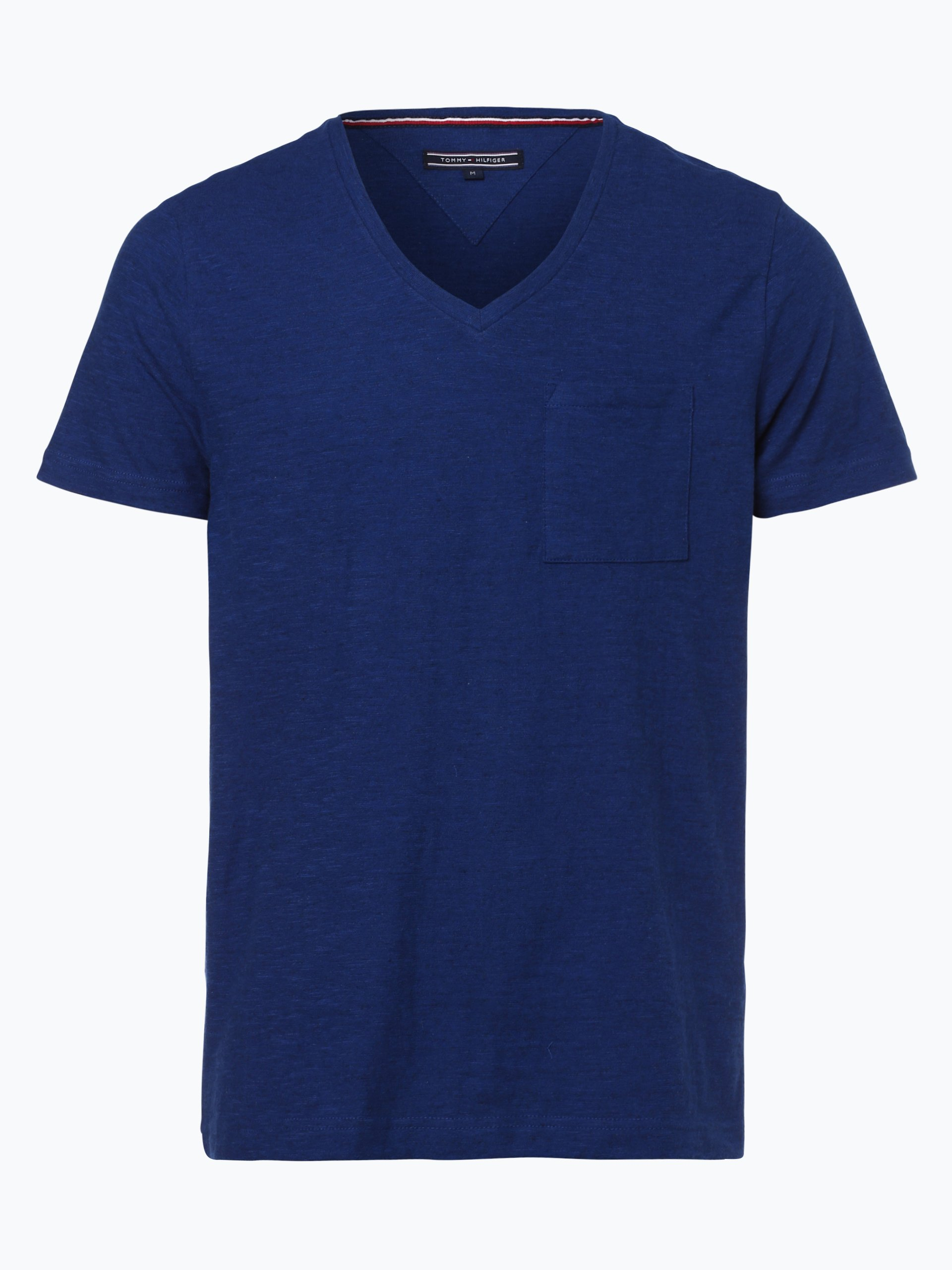 tommy hilfiger herren t shirt blau uni online kaufen. Black Bedroom Furniture Sets. Home Design Ideas