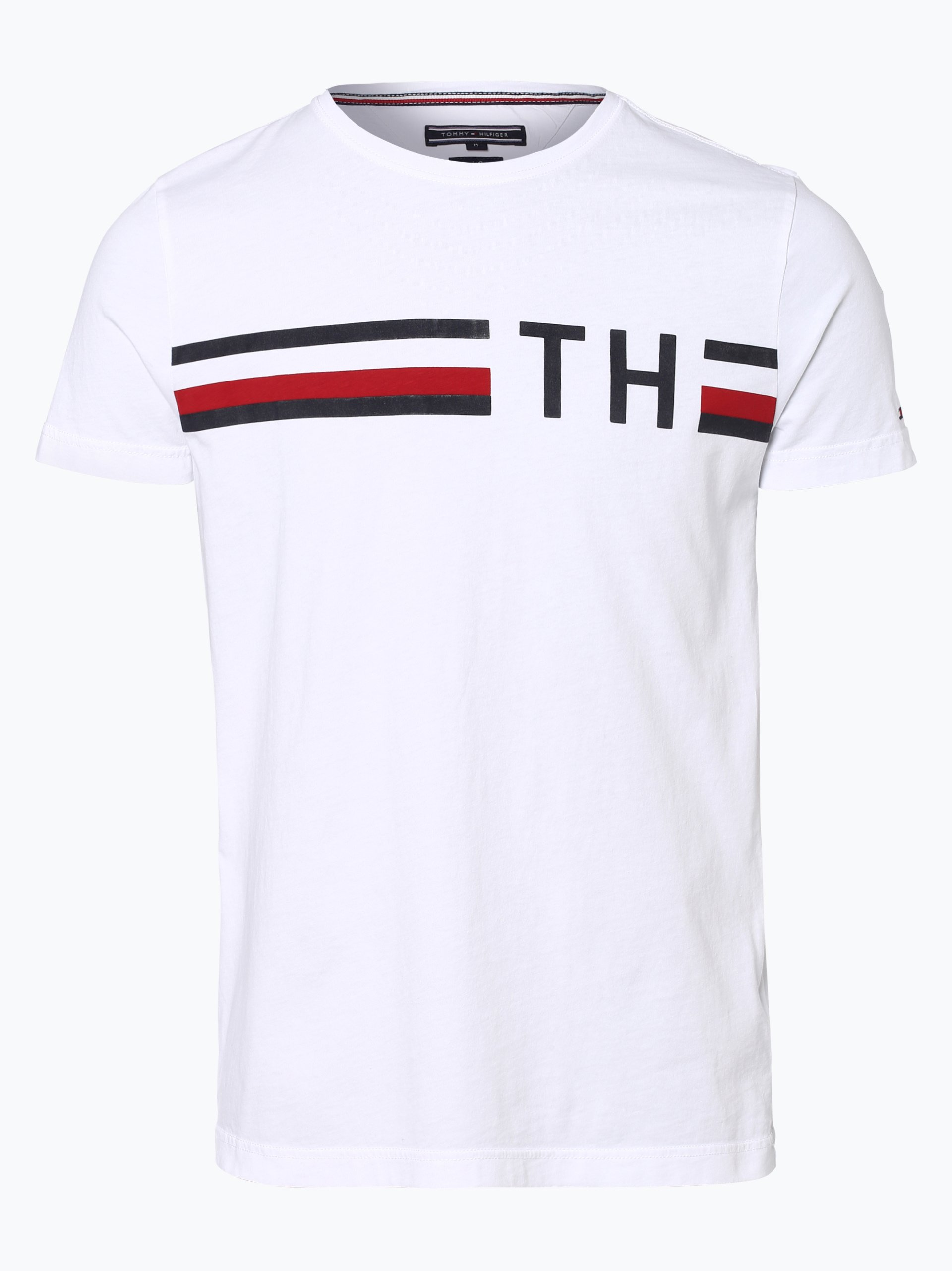 tommy hilfiger herren t shirt wei gemustert online kaufen. Black Bedroom Furniture Sets. Home Design Ideas
