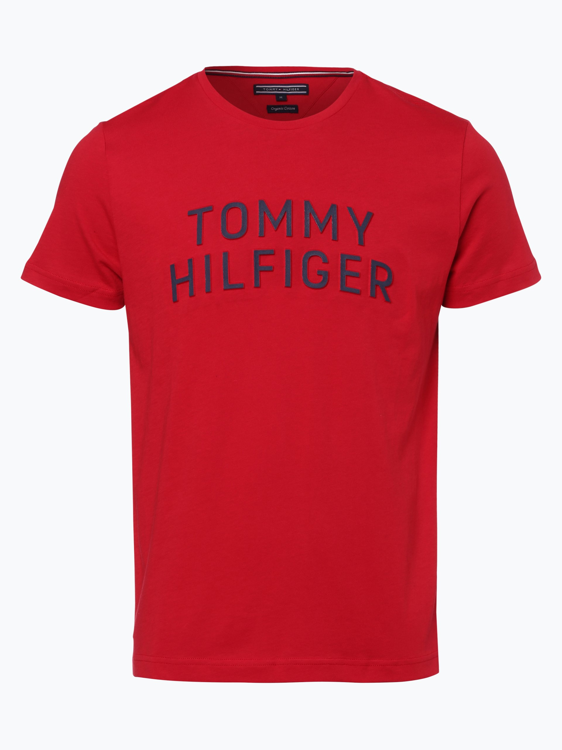 tommy hilfiger herren t shirt rot gemustert online kaufen. Black Bedroom Furniture Sets. Home Design Ideas