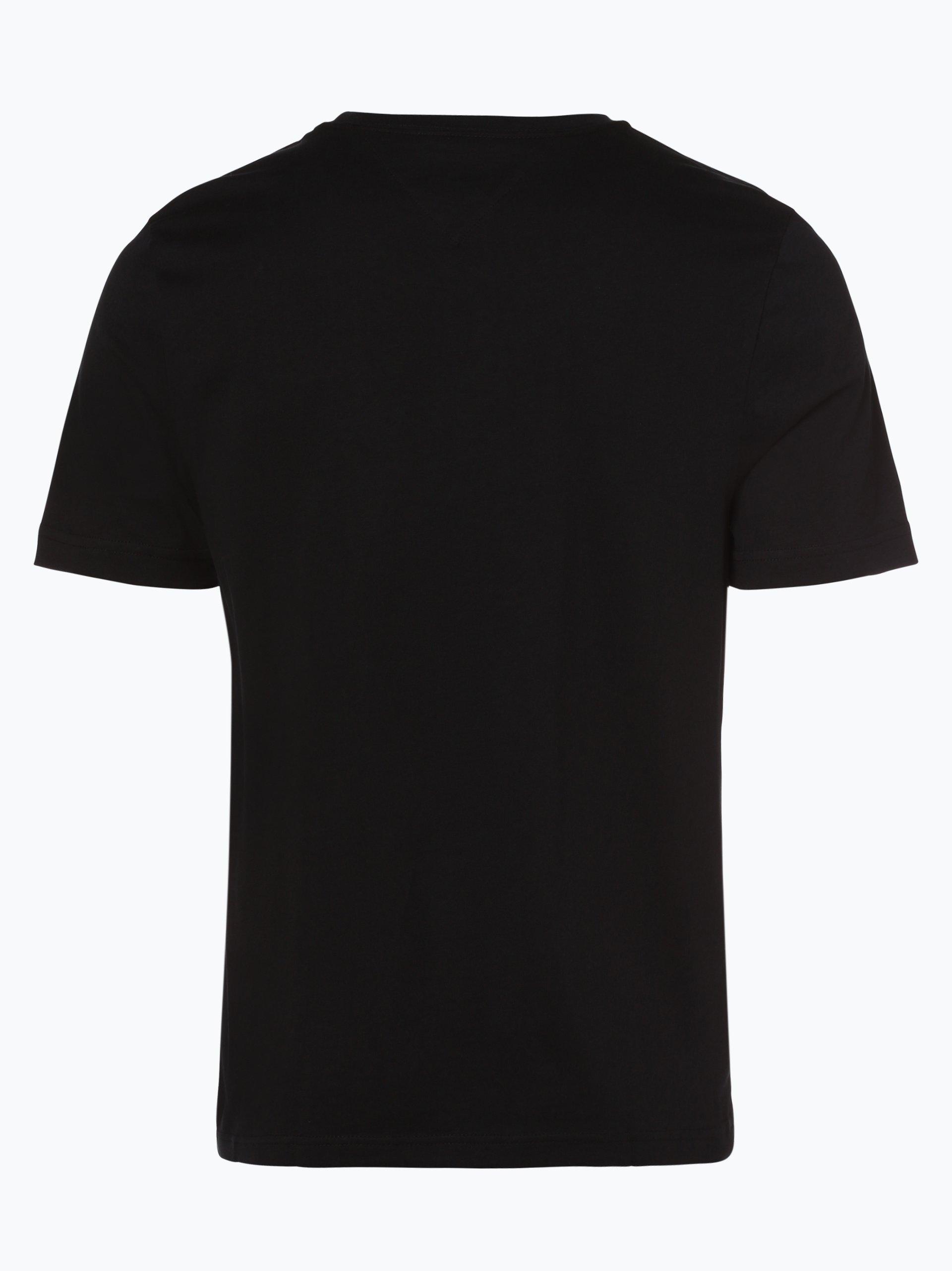 tommy hilfiger herren t shirt schwarz bedruckt online kaufen vangraaf com. Black Bedroom Furniture Sets. Home Design Ideas
