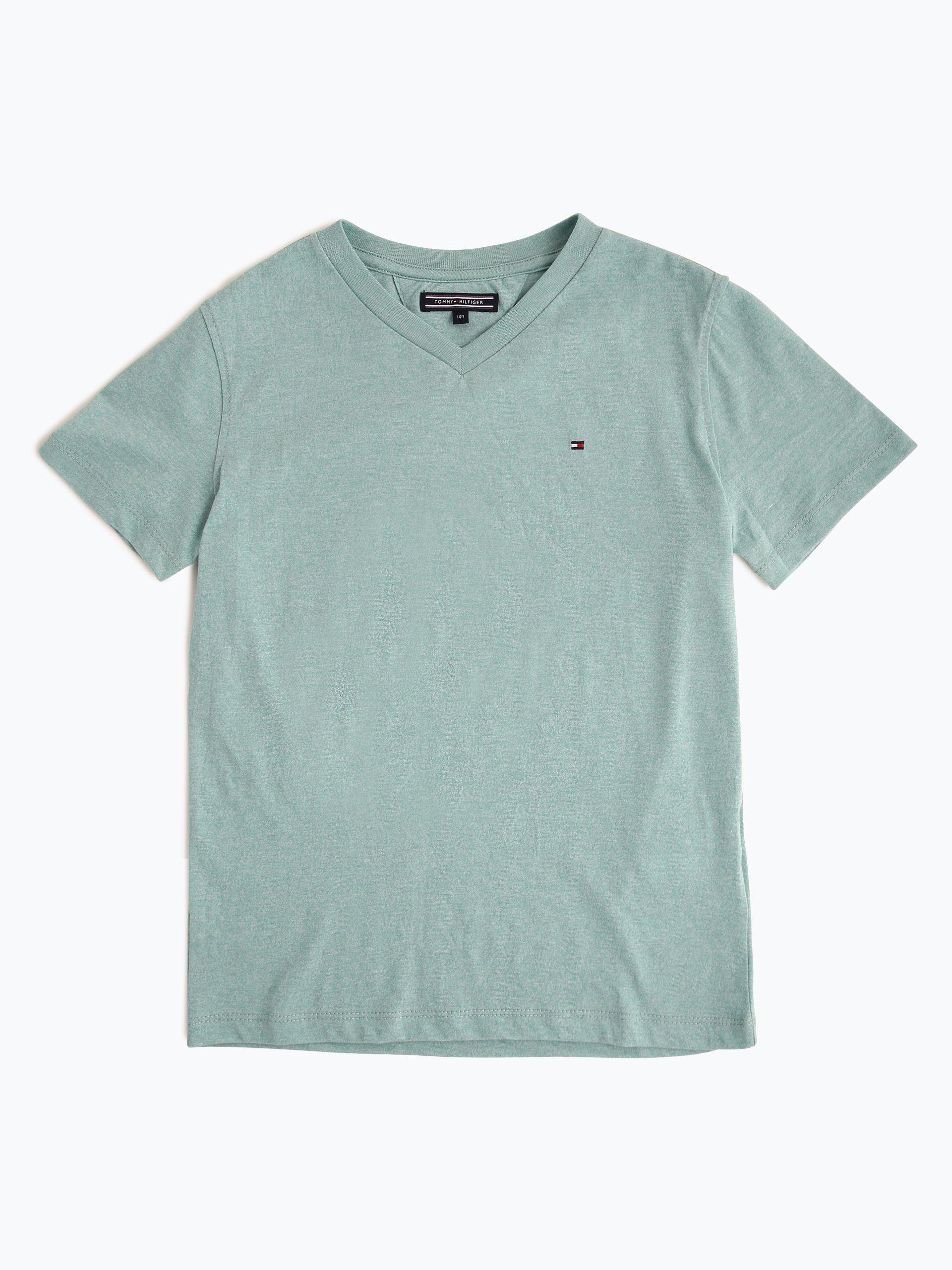 tommy hilfiger jungen t shirt mint meliert online kaufen vangraaf com. Black Bedroom Furniture Sets. Home Design Ideas