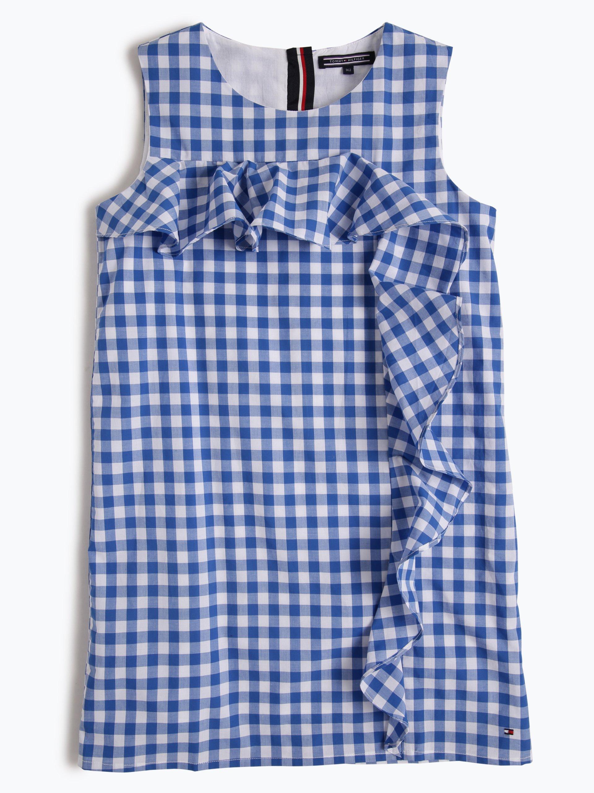 tommy hilfiger m dchen kleid blau uni online kaufen. Black Bedroom Furniture Sets. Home Design Ideas