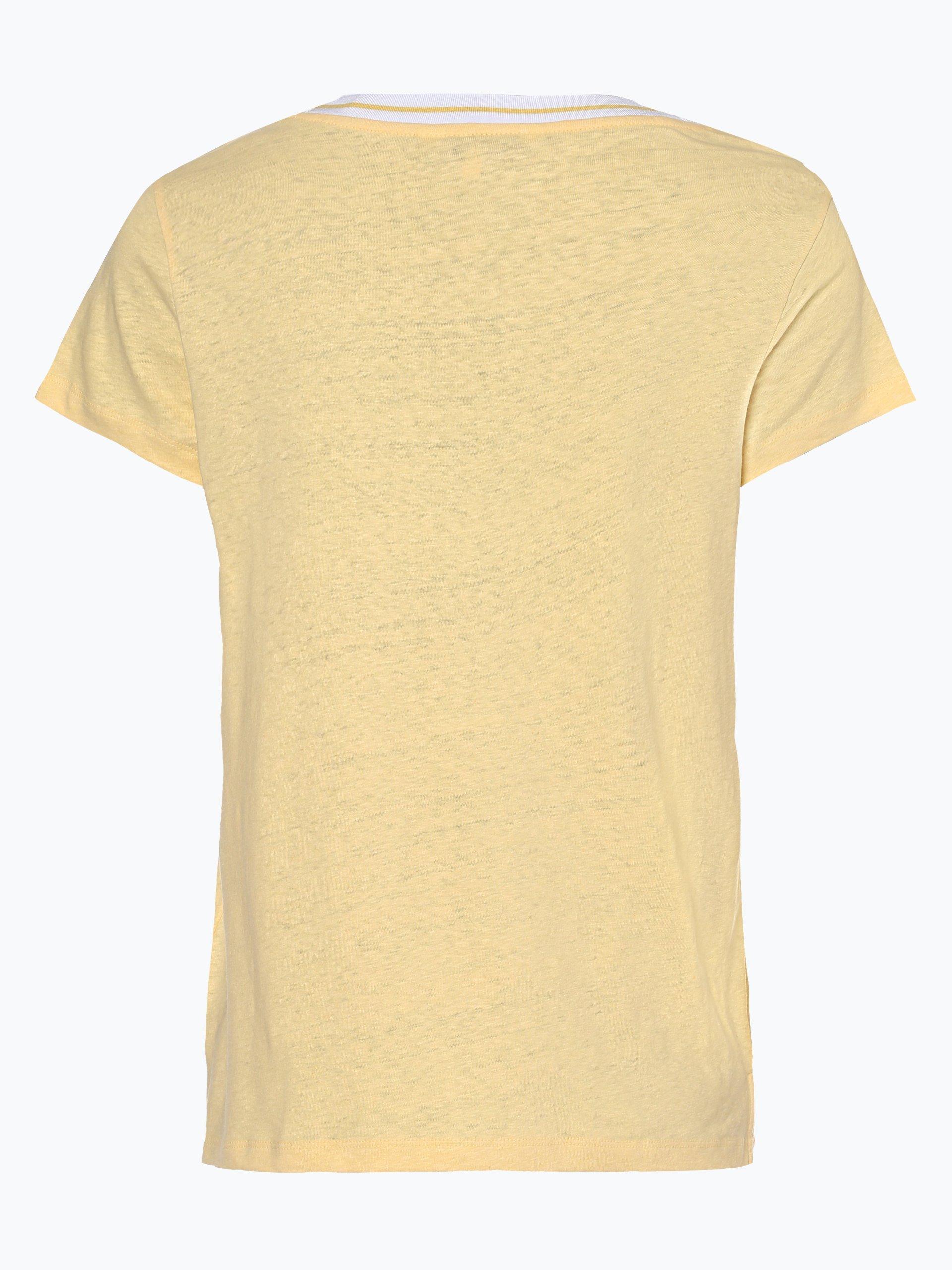 Tommy Hilfiger T-shirt damski z dodatkiem lnu – Ellen