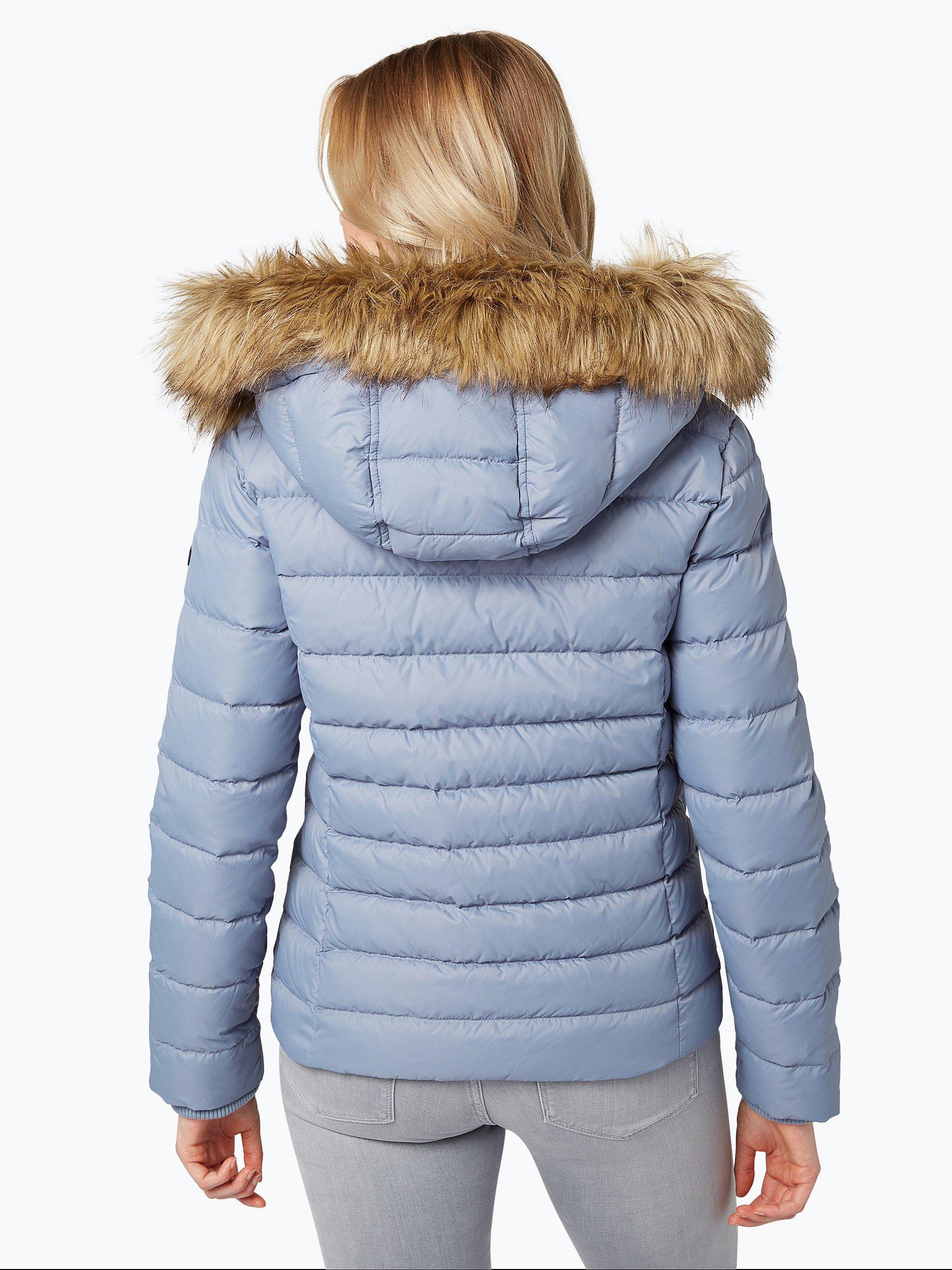 tommy jeans damen daunenjacke blau uni online kaufen peek und cloppenburg de. Black Bedroom Furniture Sets. Home Design Ideas