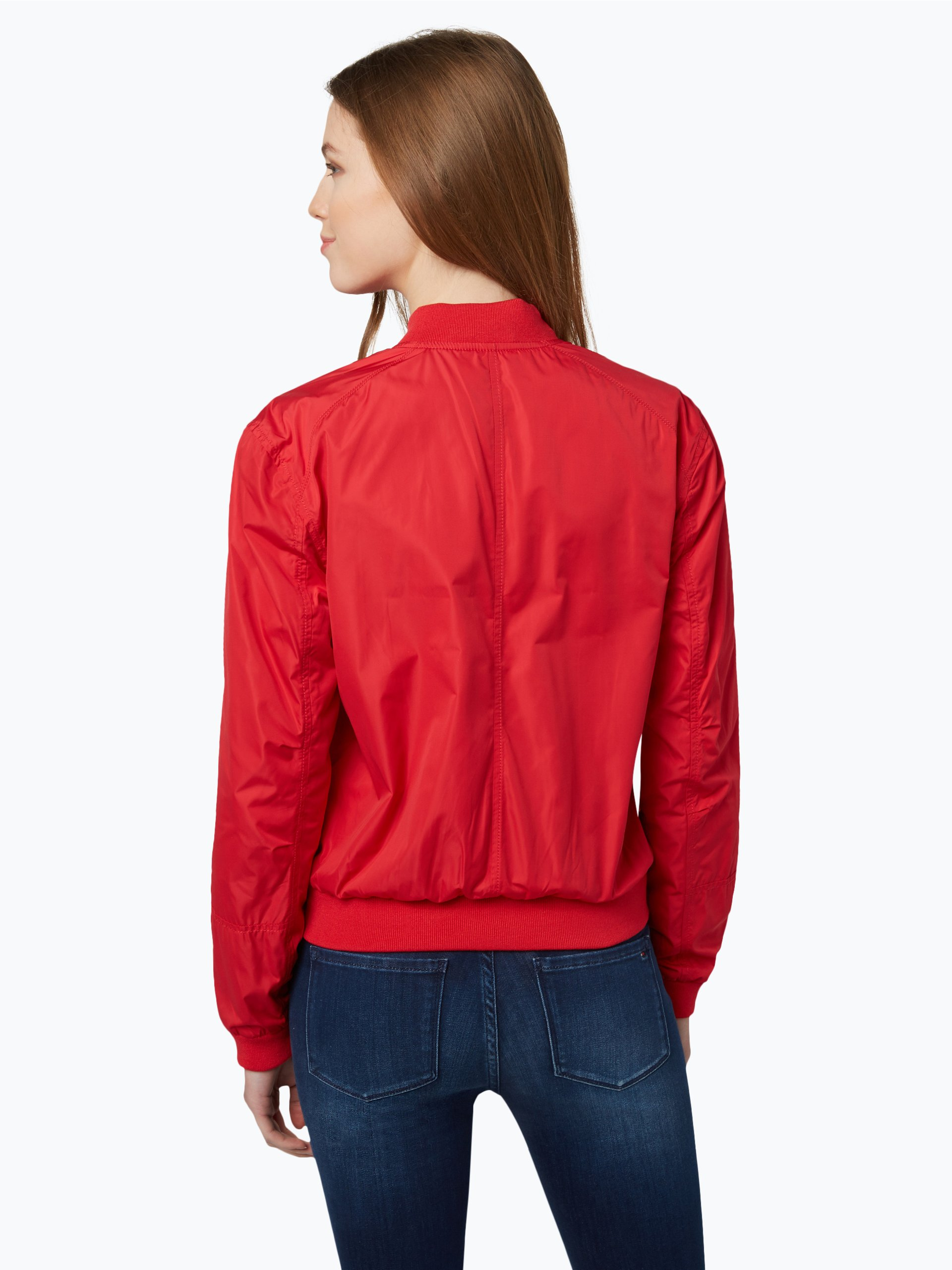 tommy jeans damen jacke rot uni online kaufen peek und. Black Bedroom Furniture Sets. Home Design Ideas