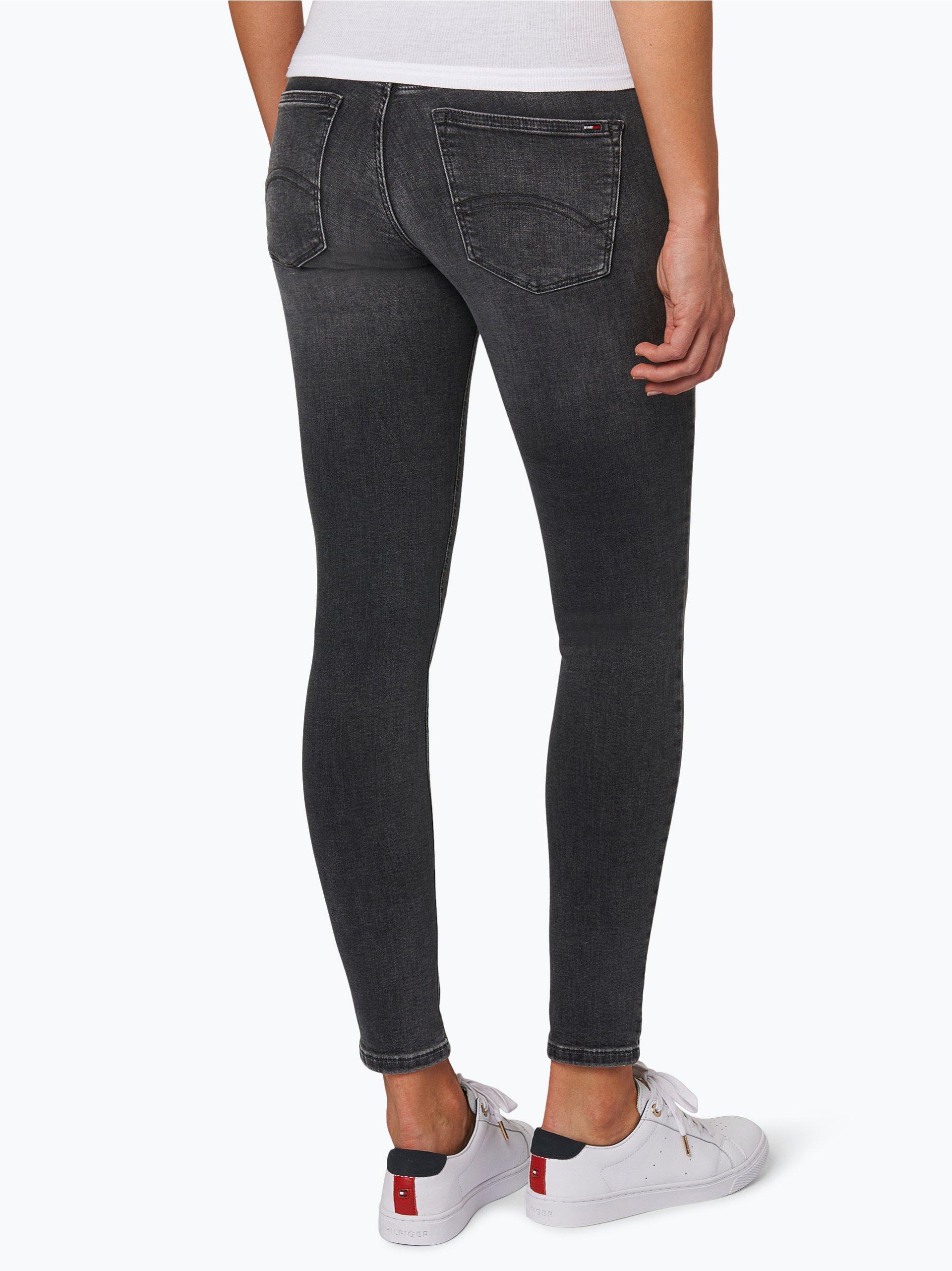 tommy jeans damen jeans nora 7 8 grau uni online kaufen. Black Bedroom Furniture Sets. Home Design Ideas