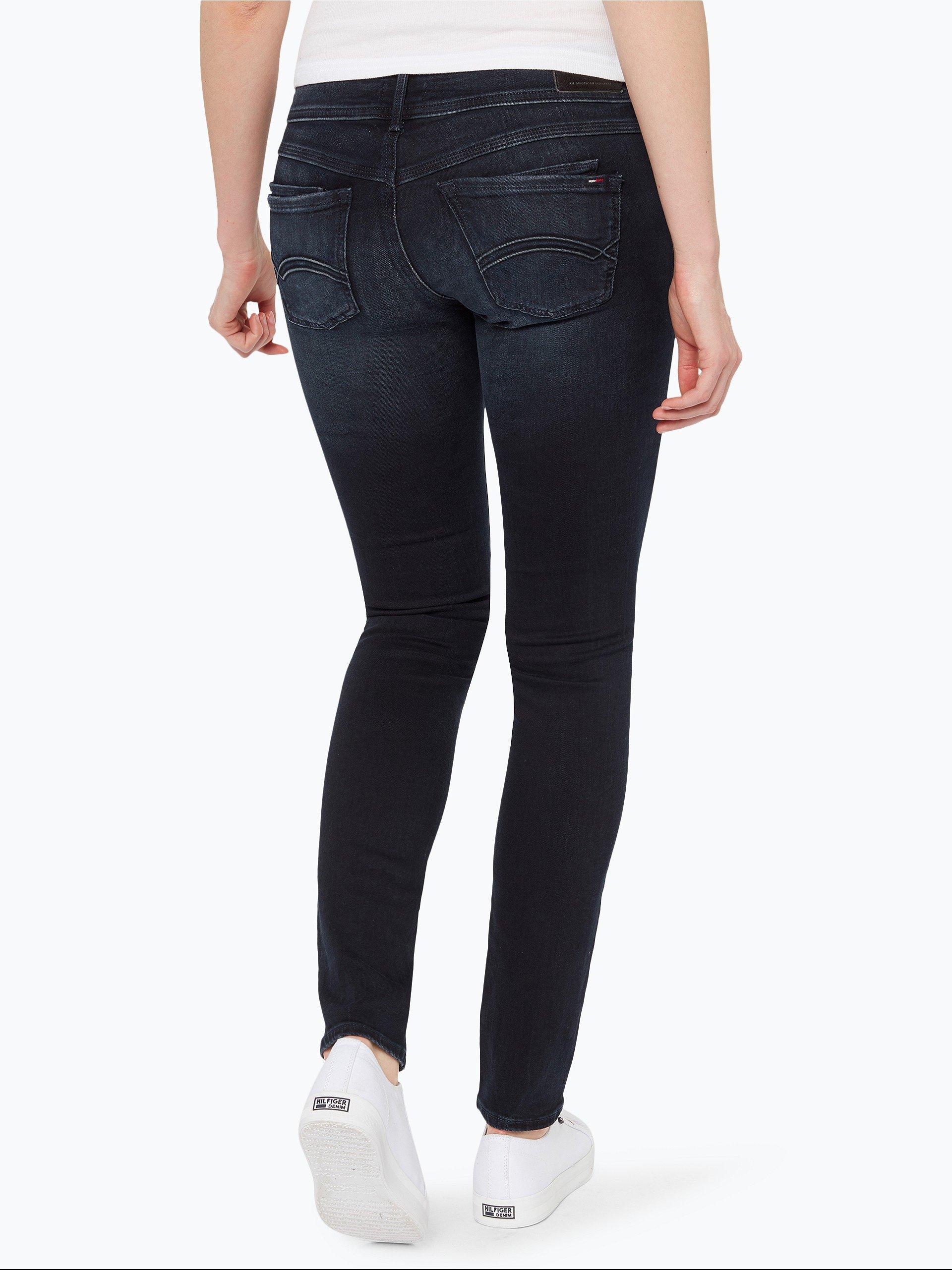 tommy jeans damen jeans scarlett marine uni online. Black Bedroom Furniture Sets. Home Design Ideas