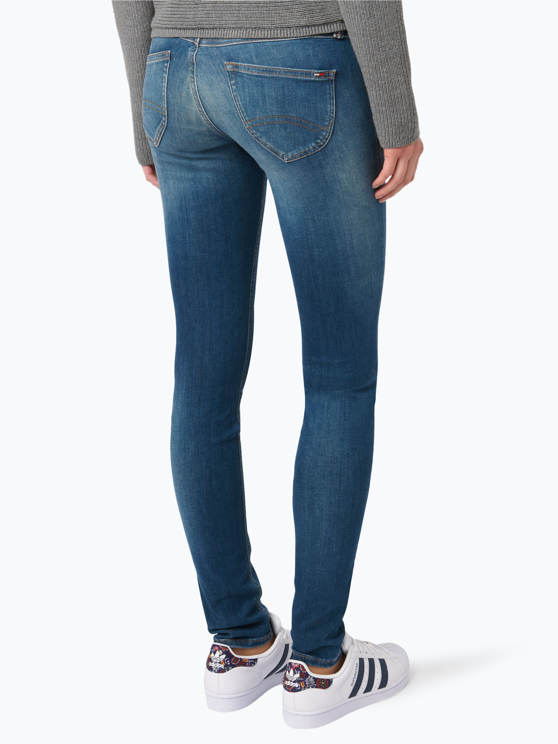 tommy jeans damen jeans sophie blau uni online kaufen. Black Bedroom Furniture Sets. Home Design Ideas