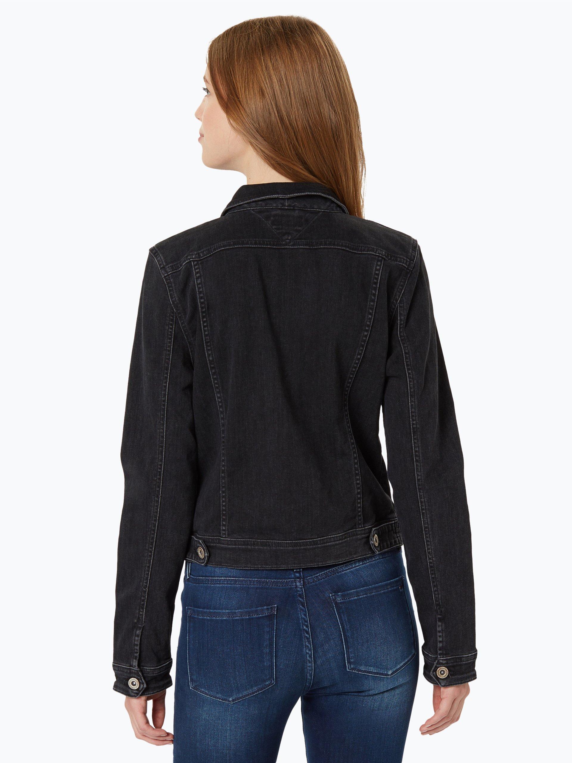 tommy jeans damen jeansjacke trucker 26 schwarz uni online kaufen vangraaf com. Black Bedroom Furniture Sets. Home Design Ideas