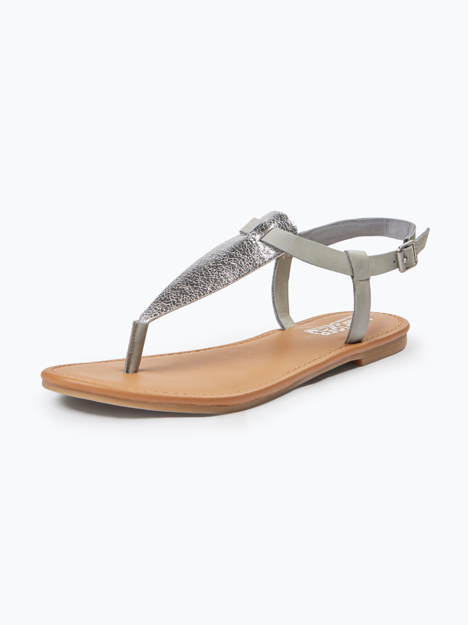 tommy jeans damen sandalen mit leder anteil silber uni. Black Bedroom Furniture Sets. Home Design Ideas