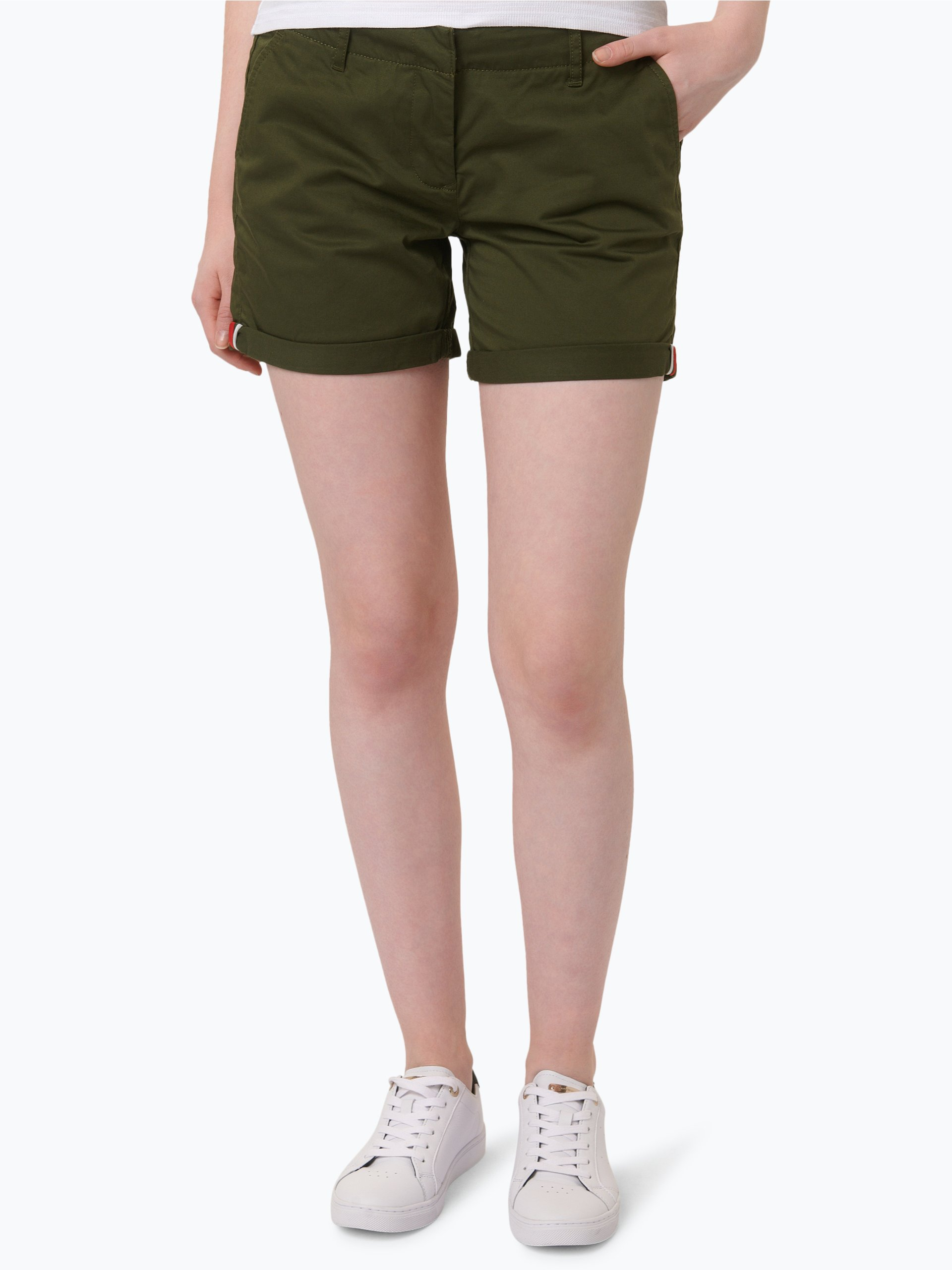 tommy jeans damen shorts oliv uni online kaufen peek und cloppenburg de. Black Bedroom Furniture Sets. Home Design Ideas