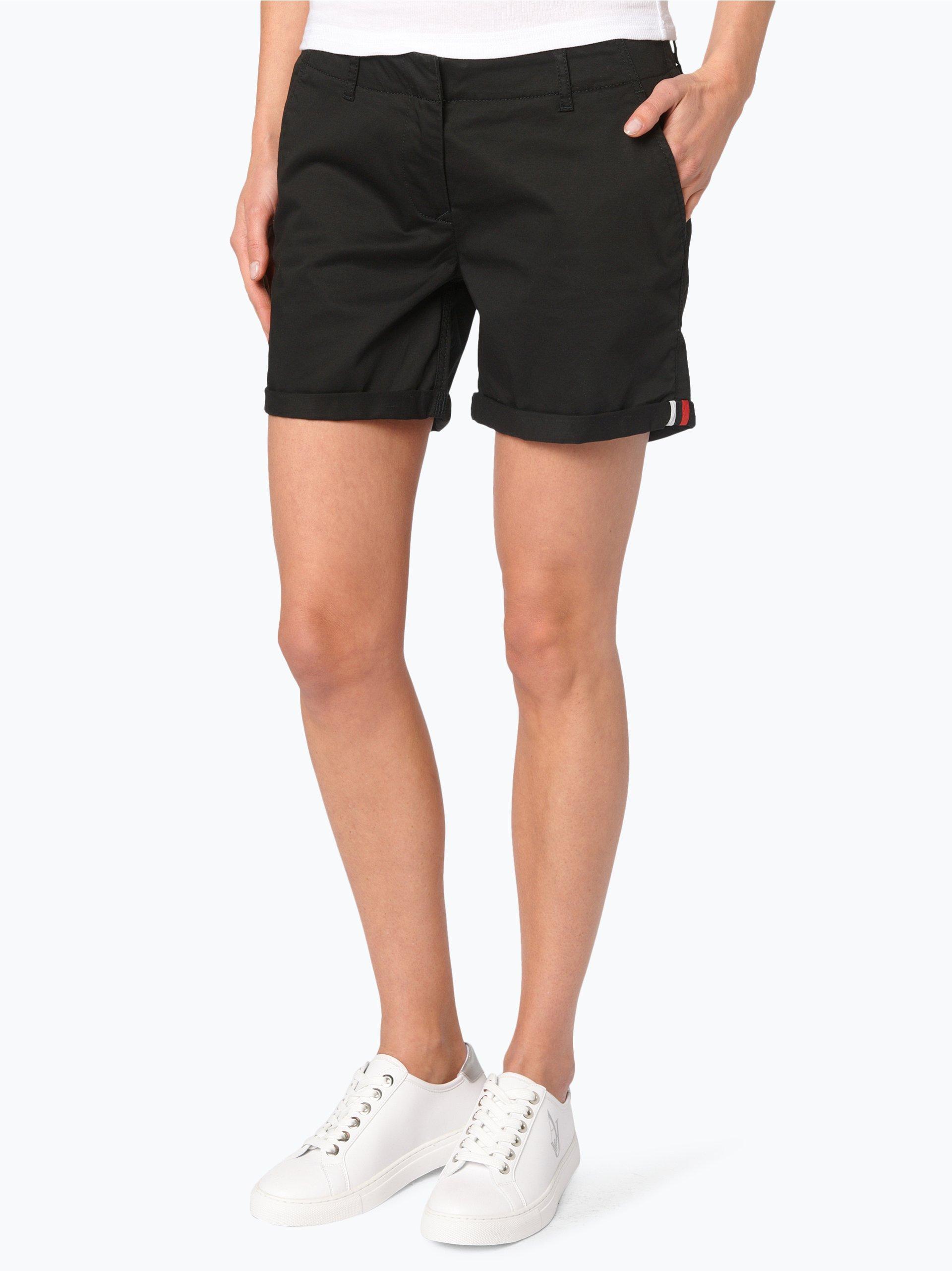 tommy jeans damen shorts schwarz uni online kaufen peek und cloppenburg de. Black Bedroom Furniture Sets. Home Design Ideas