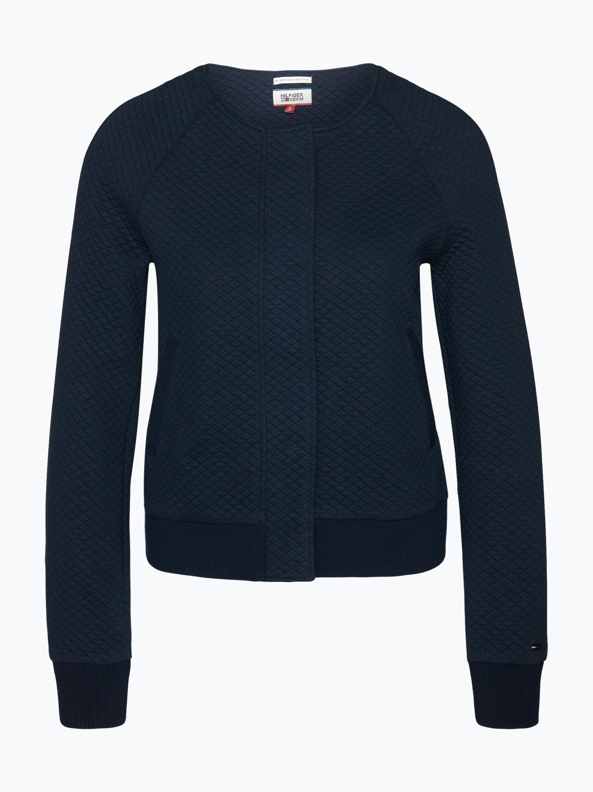 tommy jeans damen sweatjacke marine uni online kaufen. Black Bedroom Furniture Sets. Home Design Ideas