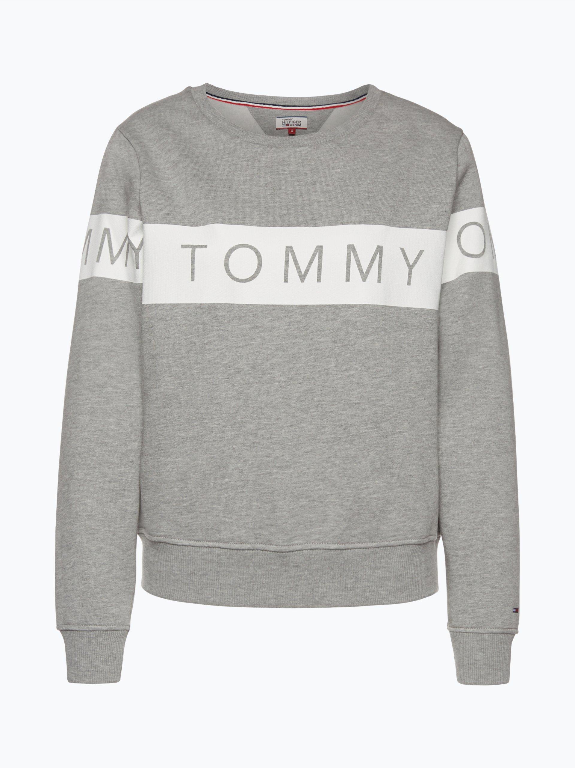 tommy jeans damen sweatshirt grau uni online kaufen peek. Black Bedroom Furniture Sets. Home Design Ideas